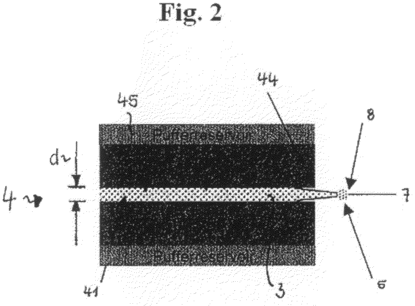 US7868146B2 Method and device for producing a thread from