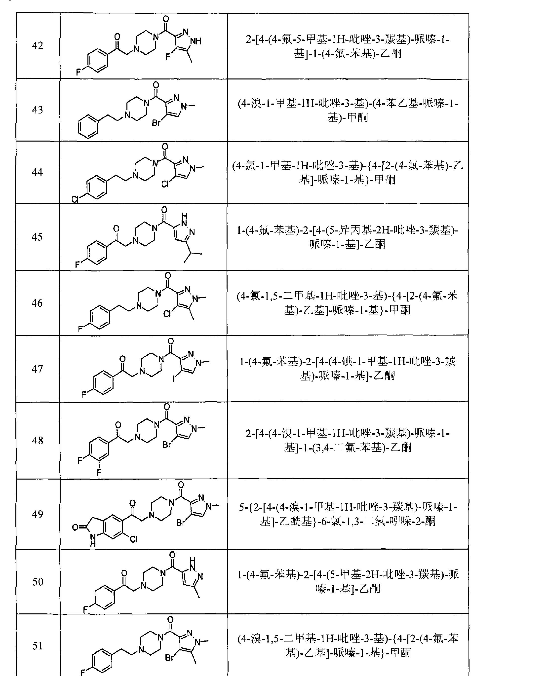 CN101611013B - Pyrazole derivatives as modulators of the 5