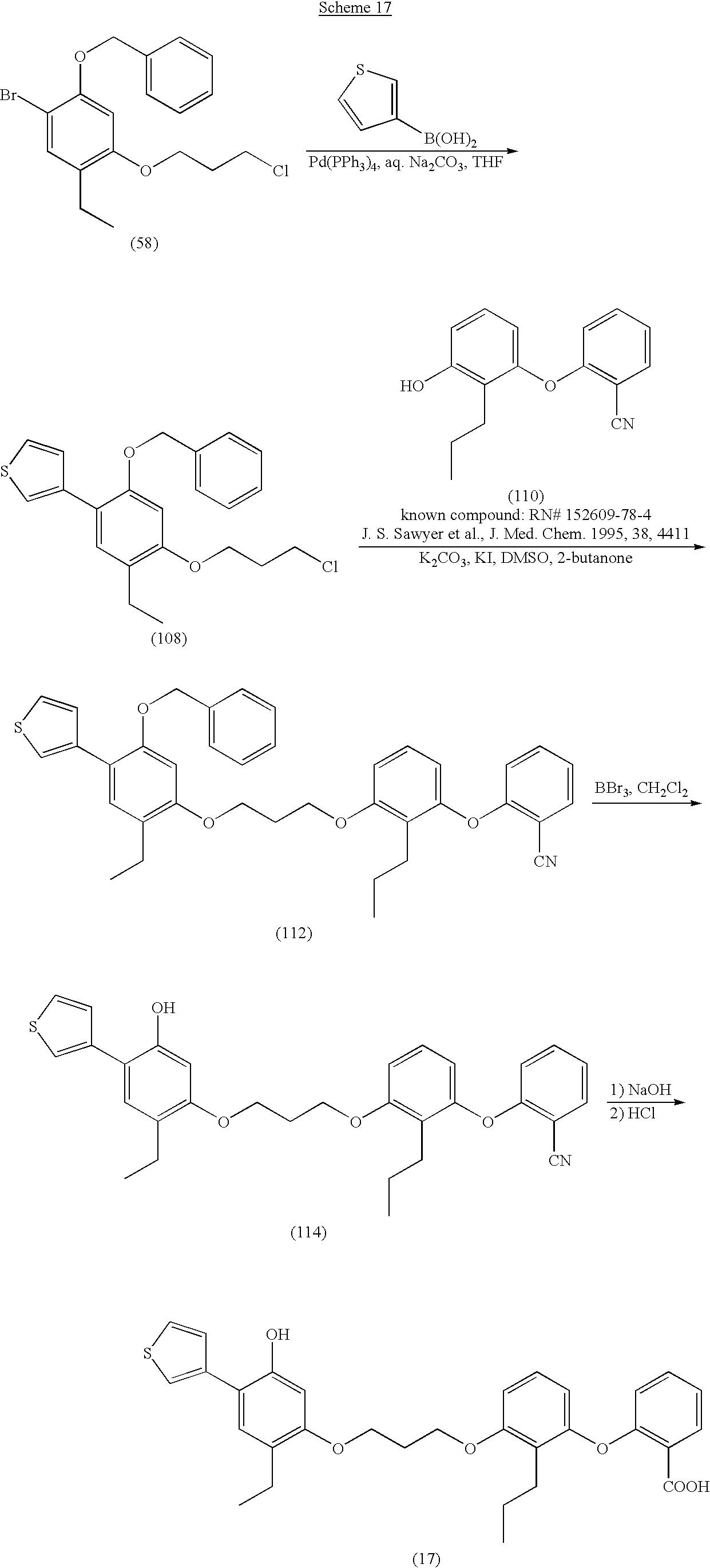 us6797723b1 heterocycle substituted diphenyl leukotriene 1740s Fashion figure us06797723 20040928 c00044