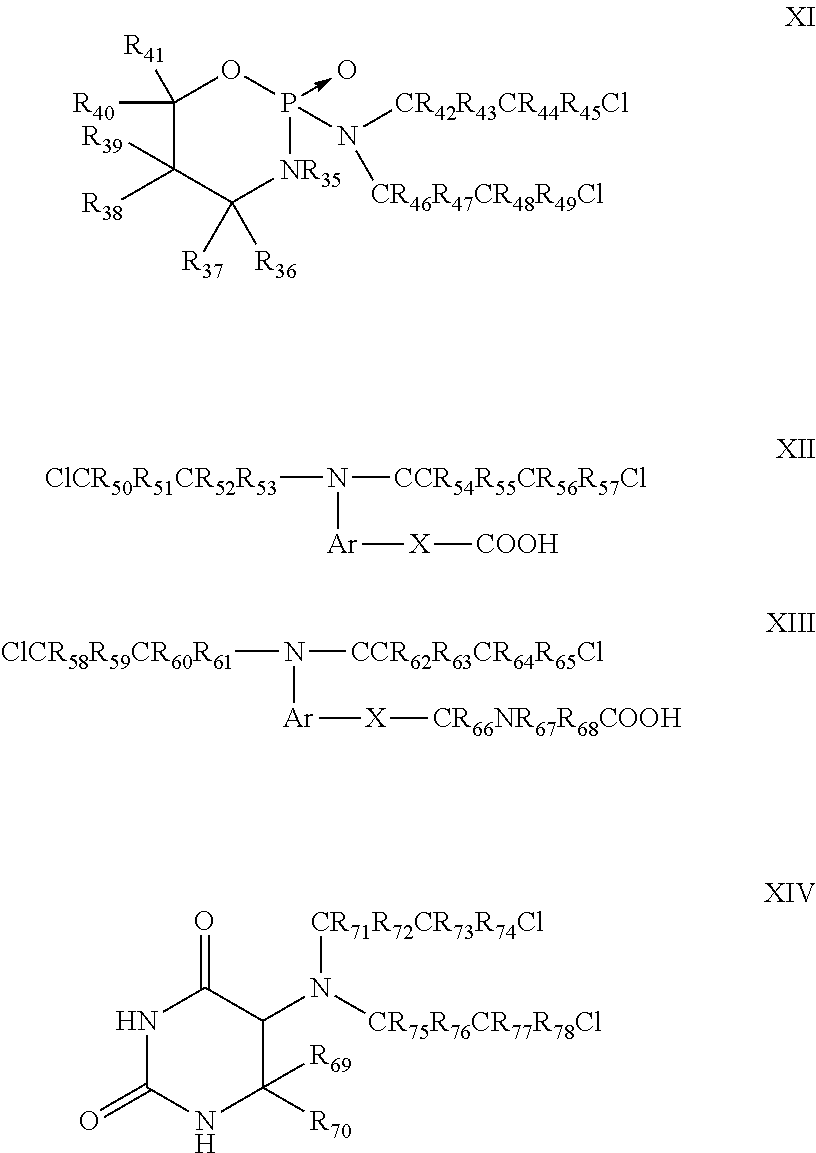 US8664278B2 - Stabilized compositions of volatile alkylating