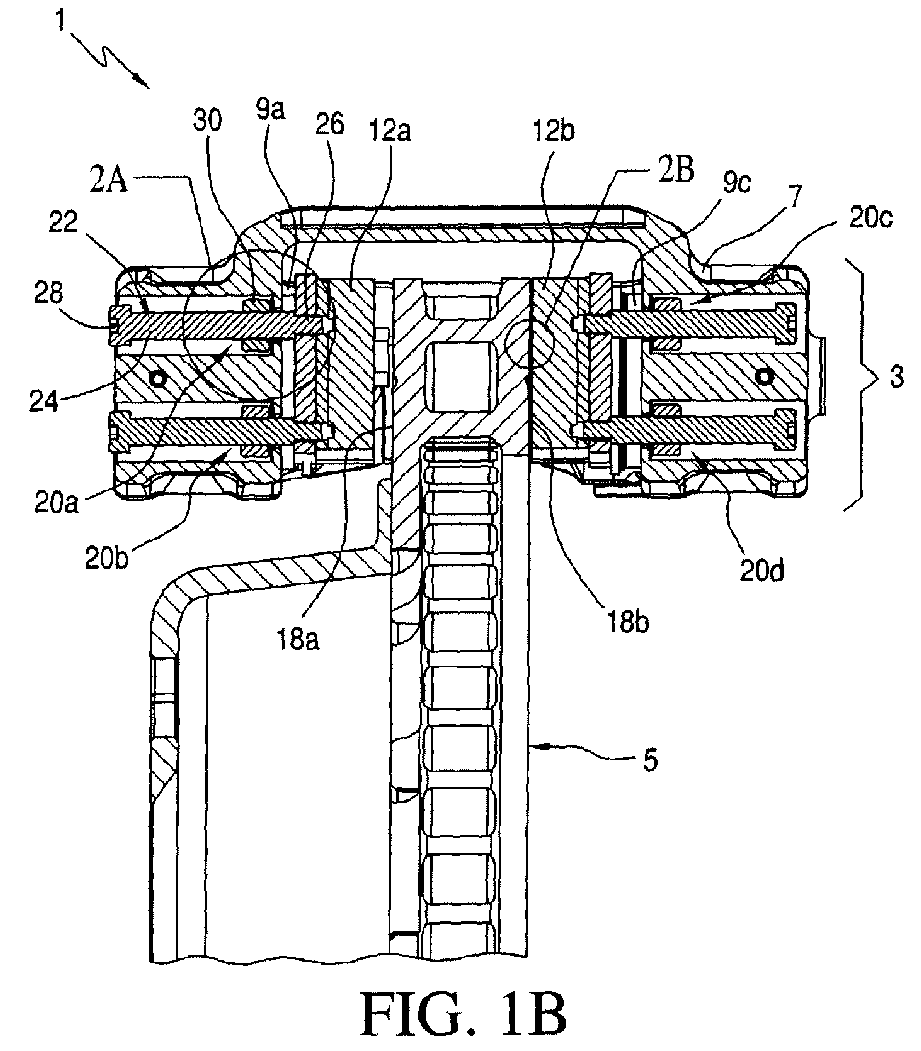 Ep2314895a1 Brake Caliper With Pad Timing And Retraction Diagram Figure Imgaf001