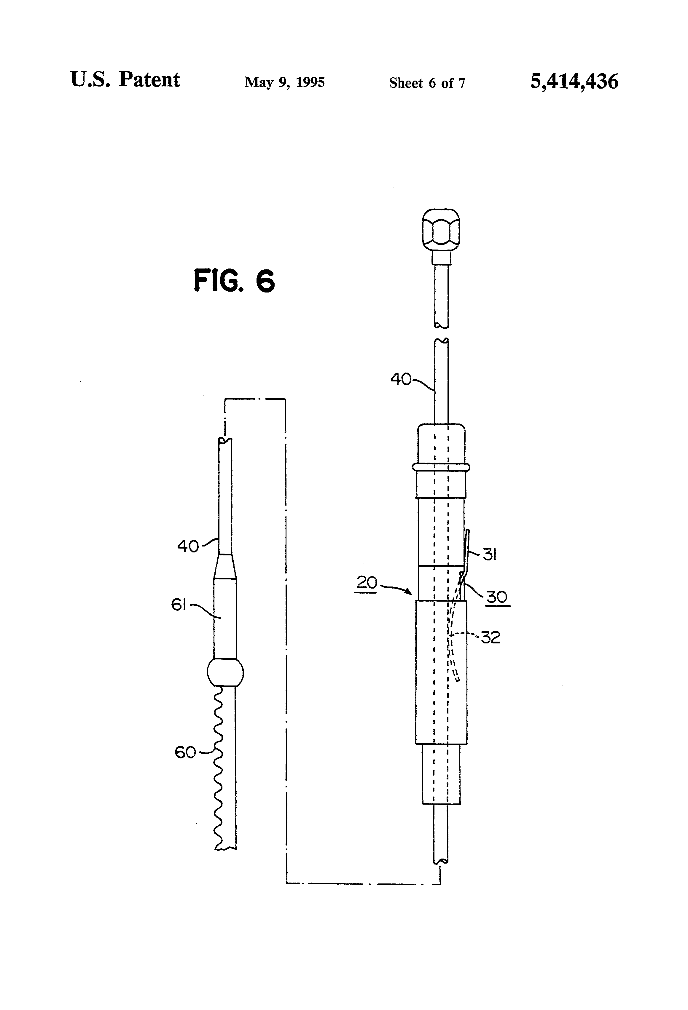 US5414436A - Electric extensible car antenna - Google Patents on