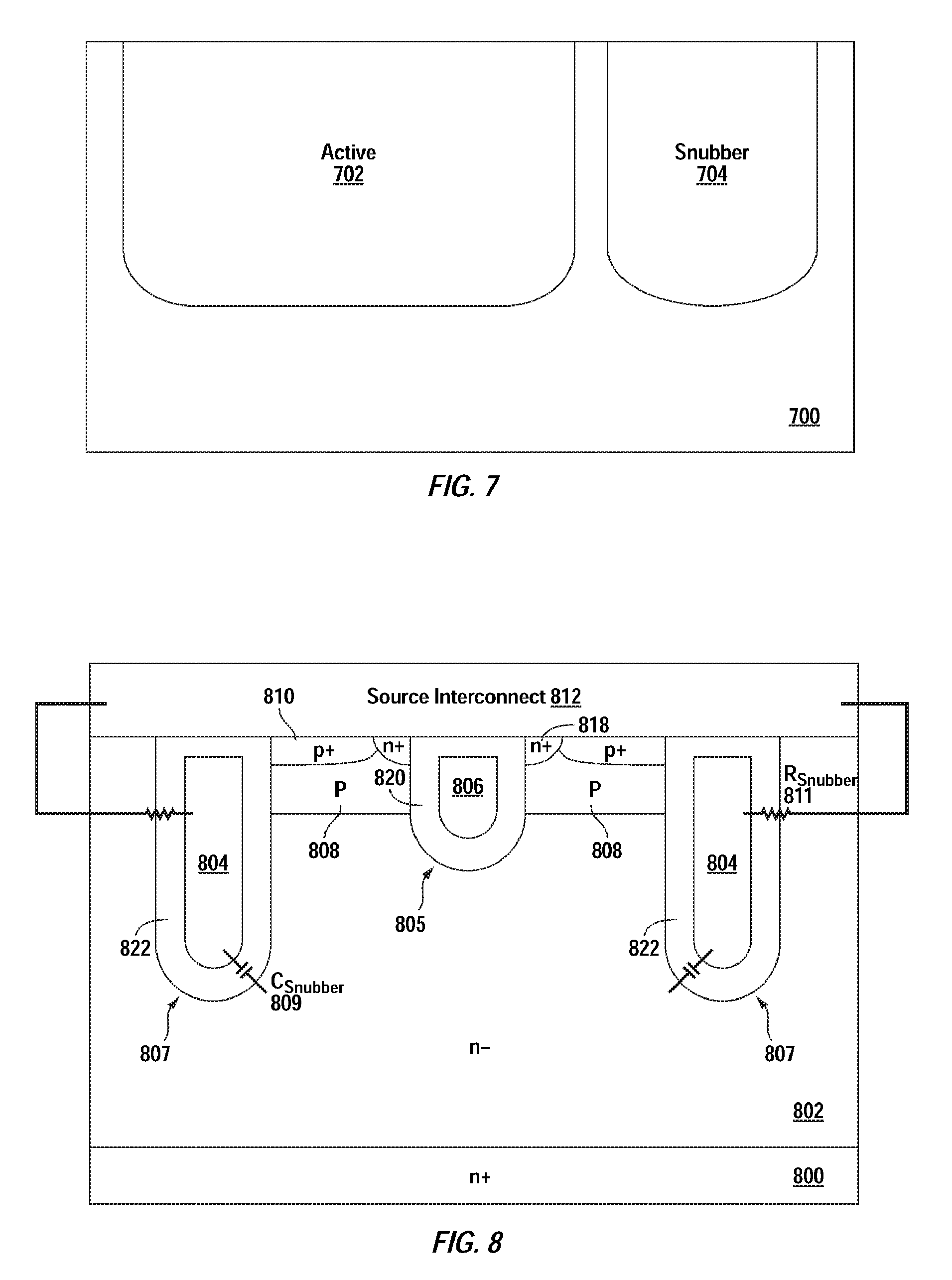 Us20100163950a1 Power Device With Monolithically Integrated Rc Changing The Output Voltage Of Ringing Switching Supply Circuit Snubber Google Patents