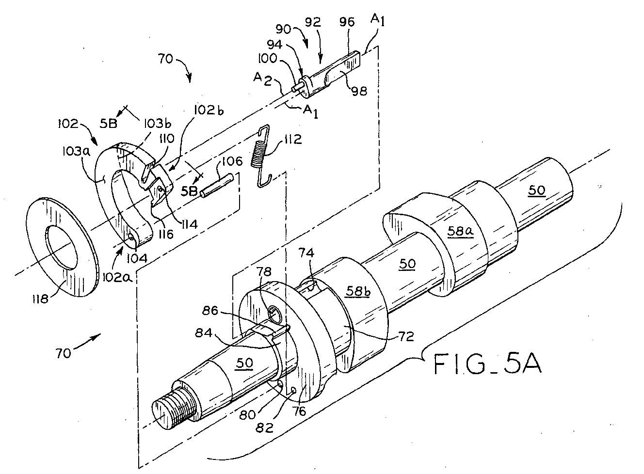EP1380729A1 - Compression release mechanism for internal combustion