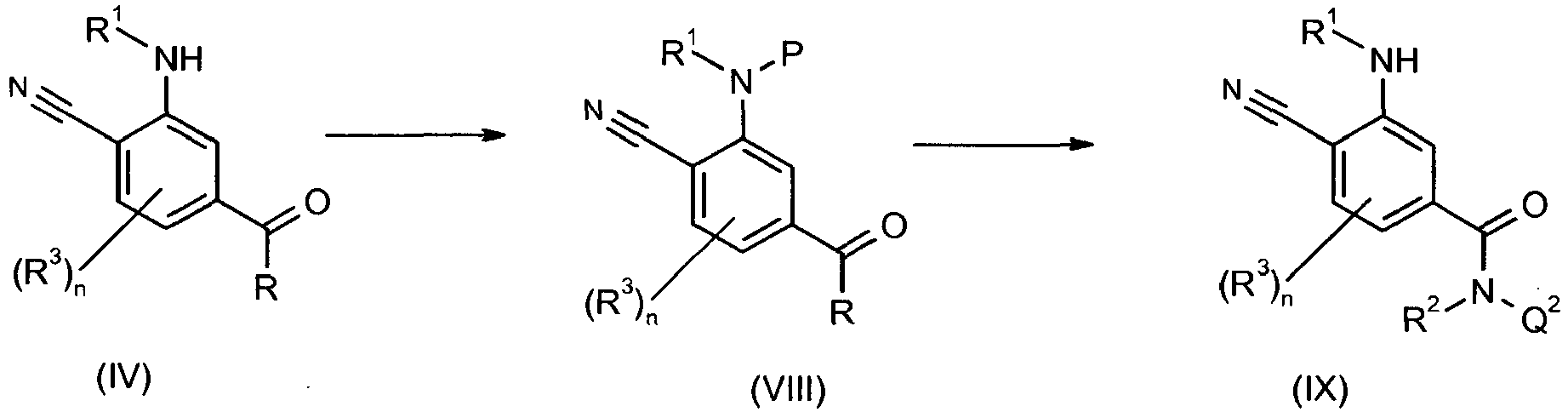 EP2427427B1 - 4-cyano-3-benzoylamino-n-phenyl-benzamides for