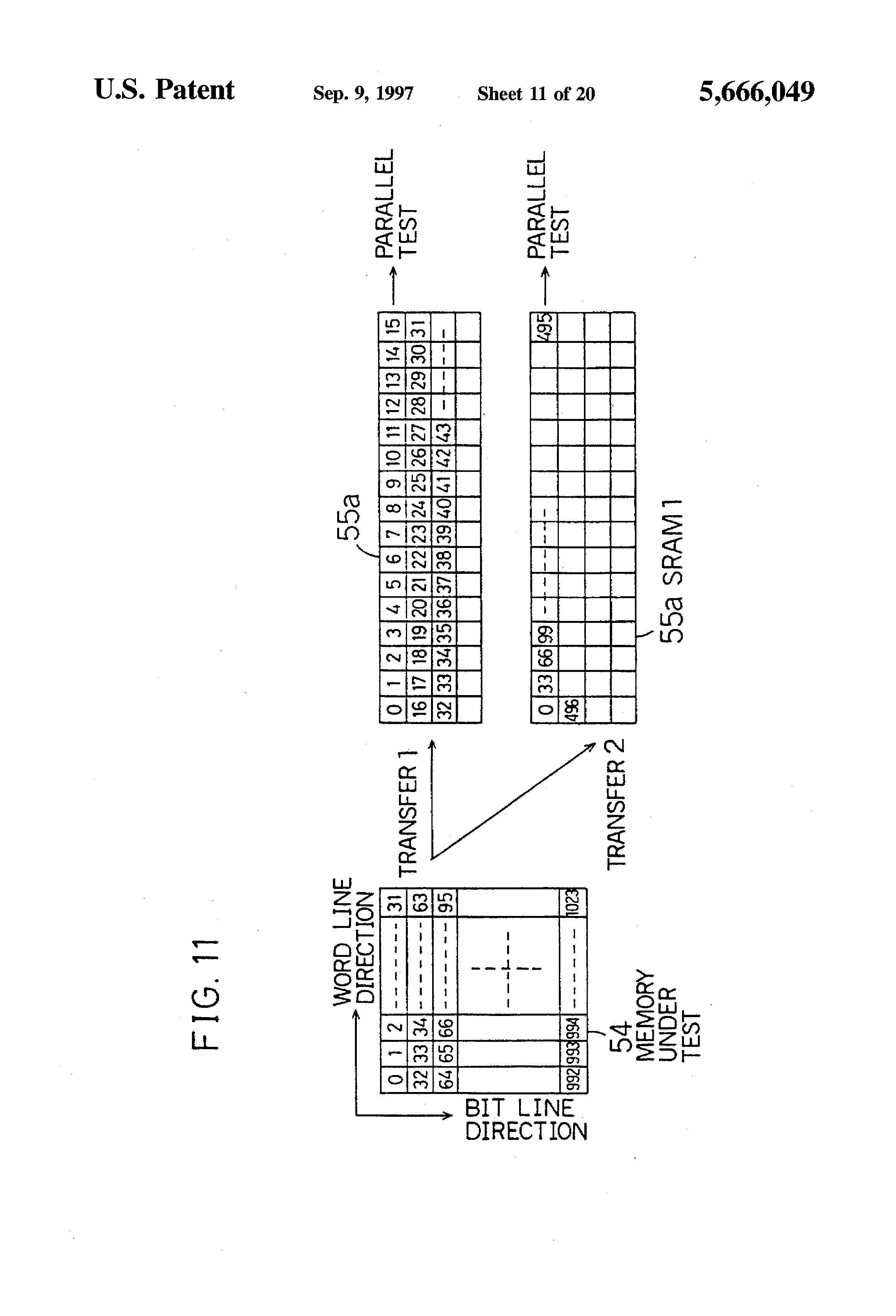 US5666049A - Semiconductor testing apparatus, semiconductor ... on