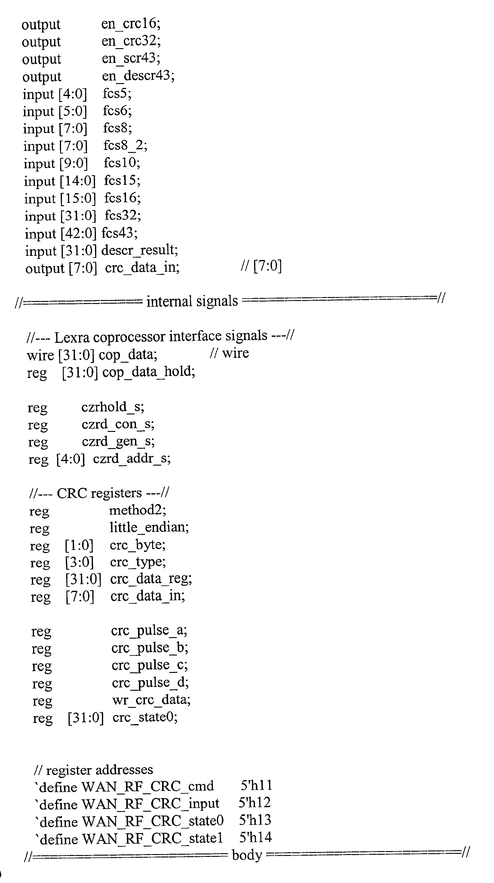 US20020138804A1 - Computation of checksums and other