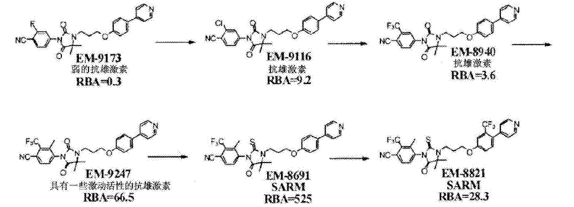 CN105873917A - Non-steroidal antiandrogens and selective androgen