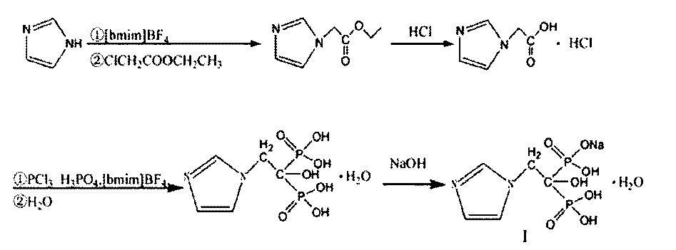 Image result for zoledronic acid synthesis