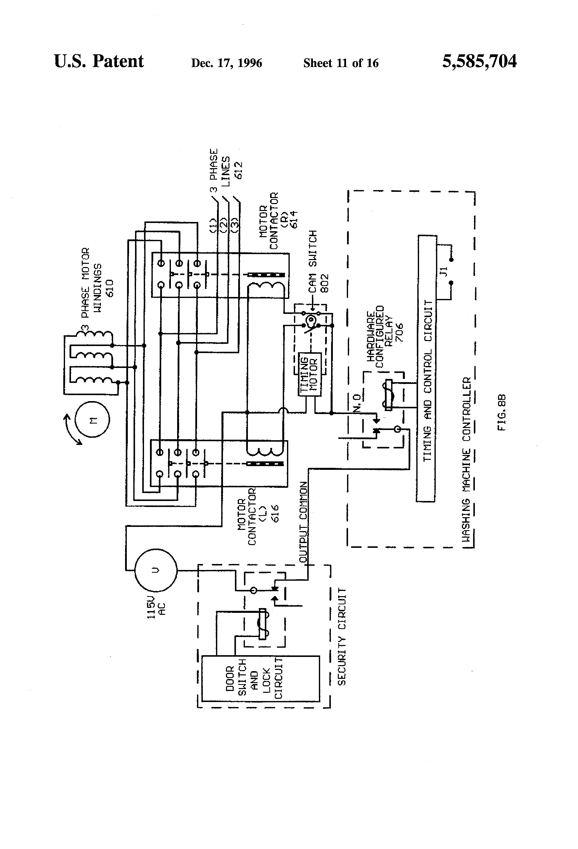 US5585704A - Computer means for commercial washing machines ... on