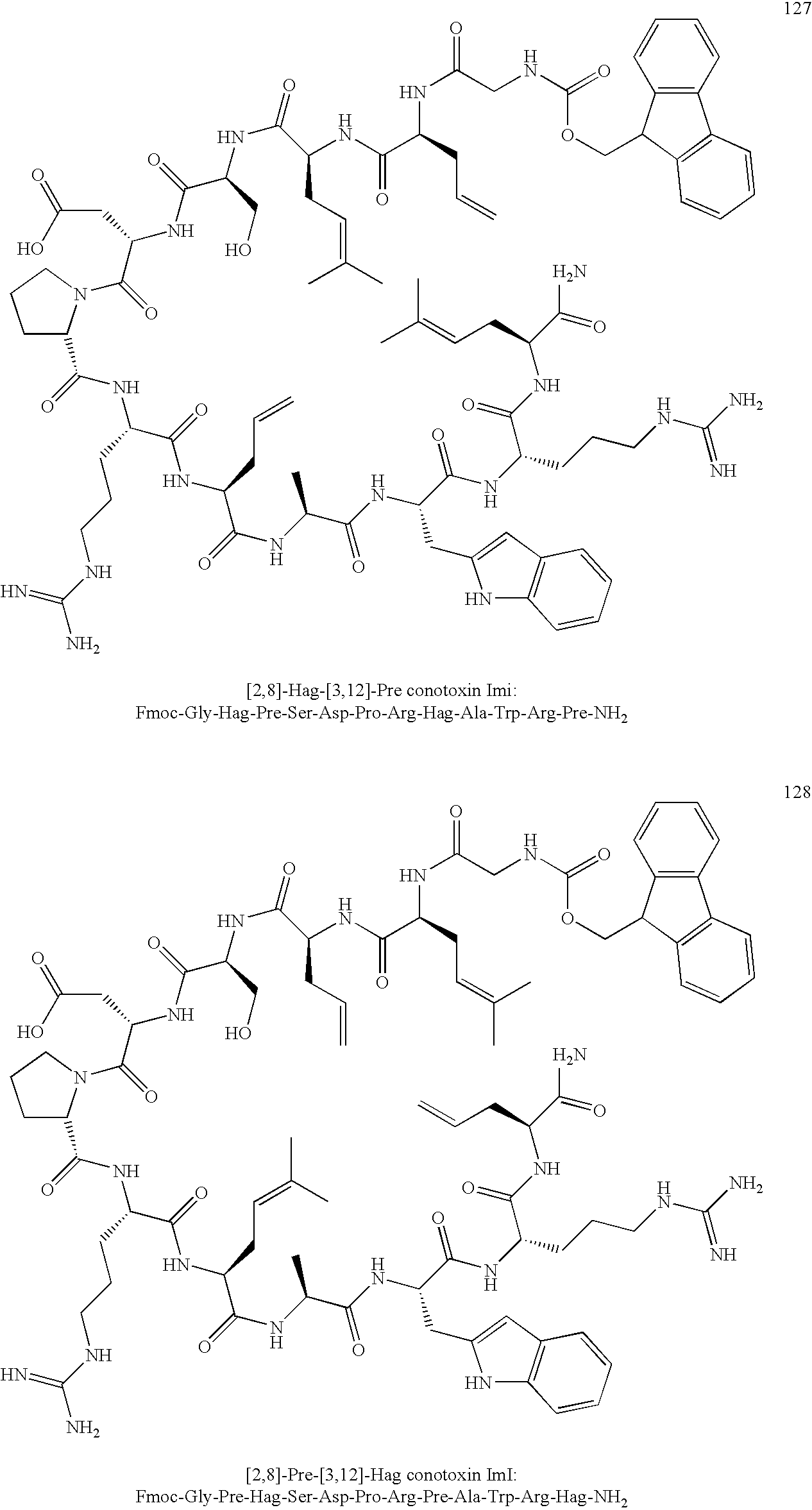 us20100022749a1 contoxin analogues and methods for synthesizing  figure us20100022749a1 20100128 c00087