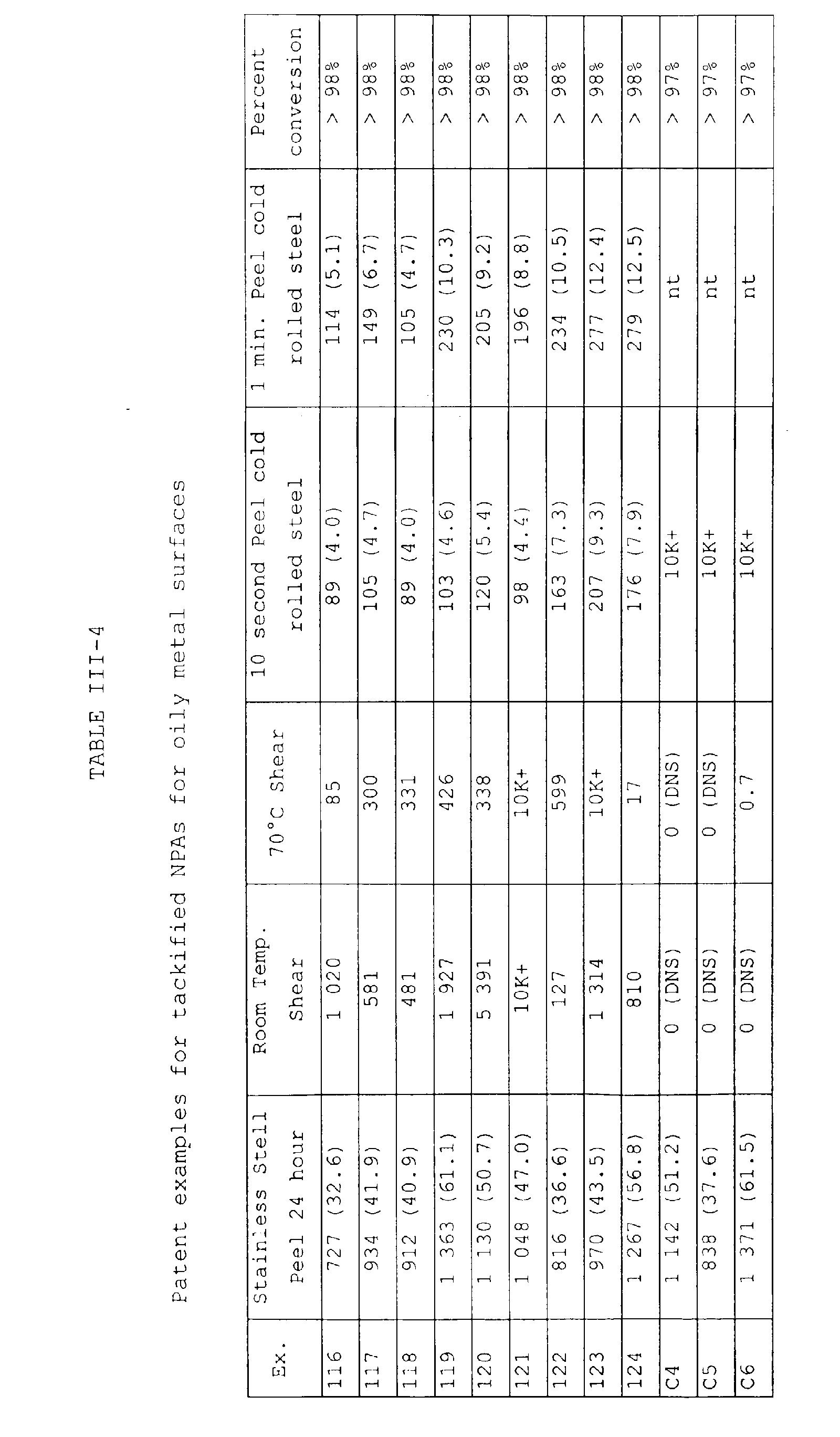 EP1097978A1 - Tackified pressure sensitive adhesives