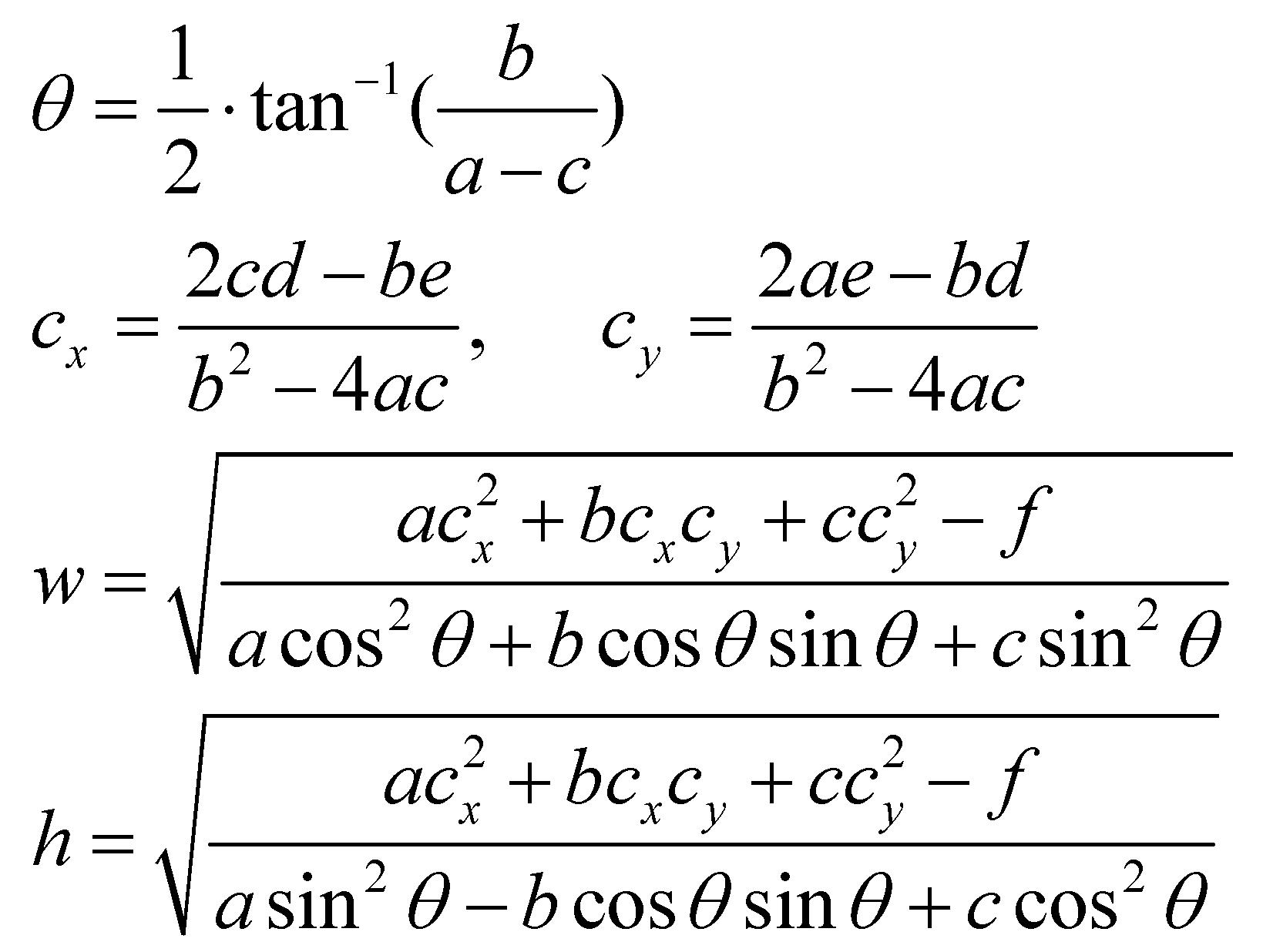 ellipse by four center method pdf