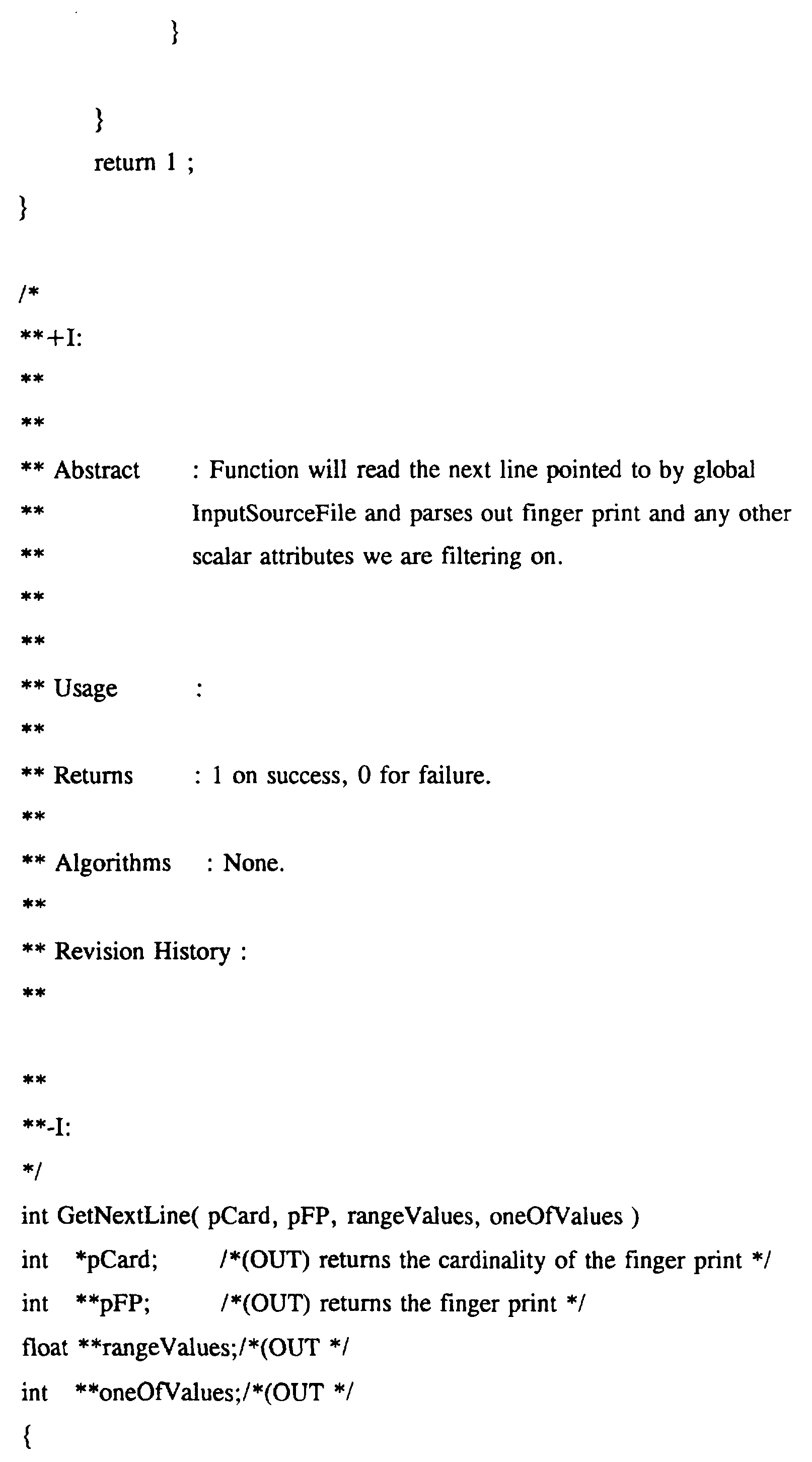 WO1997027559A1 - Method of creating and searching a