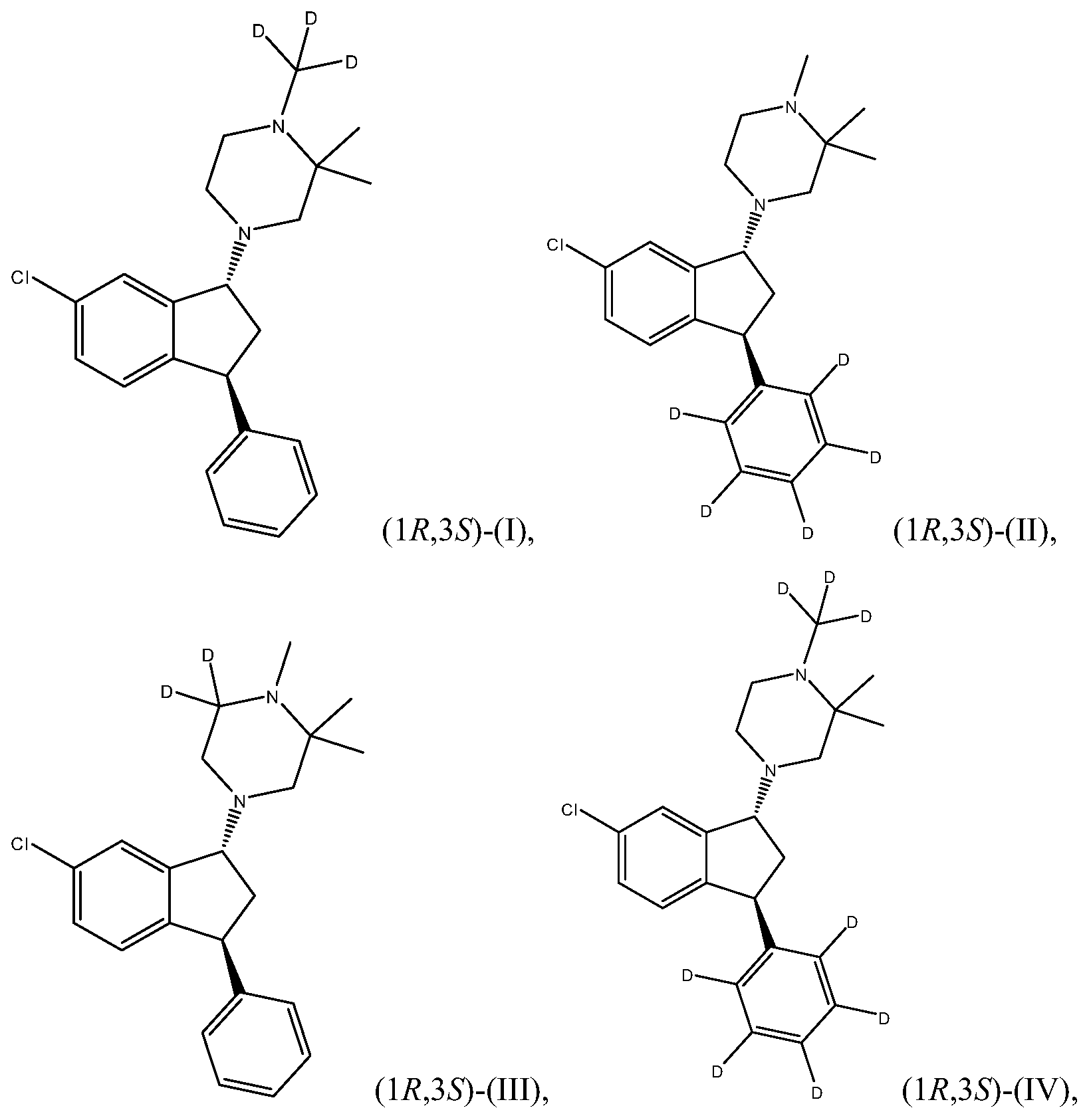 KR20140041567A - Deuterated 1-piperazino-3-phenyl indanes