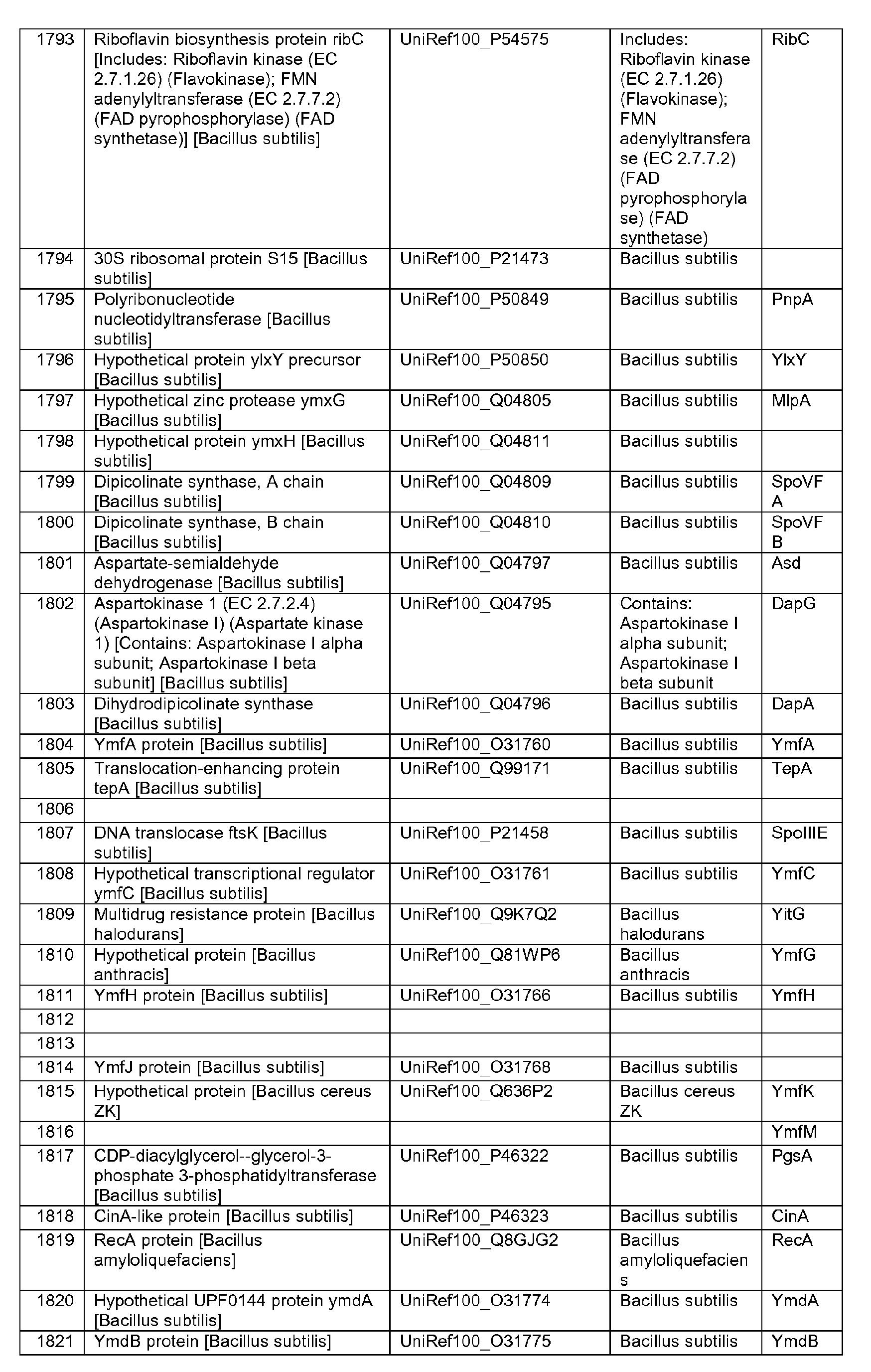 EP2284184A2 - Bacillus YvmA inactivation - Google Patents