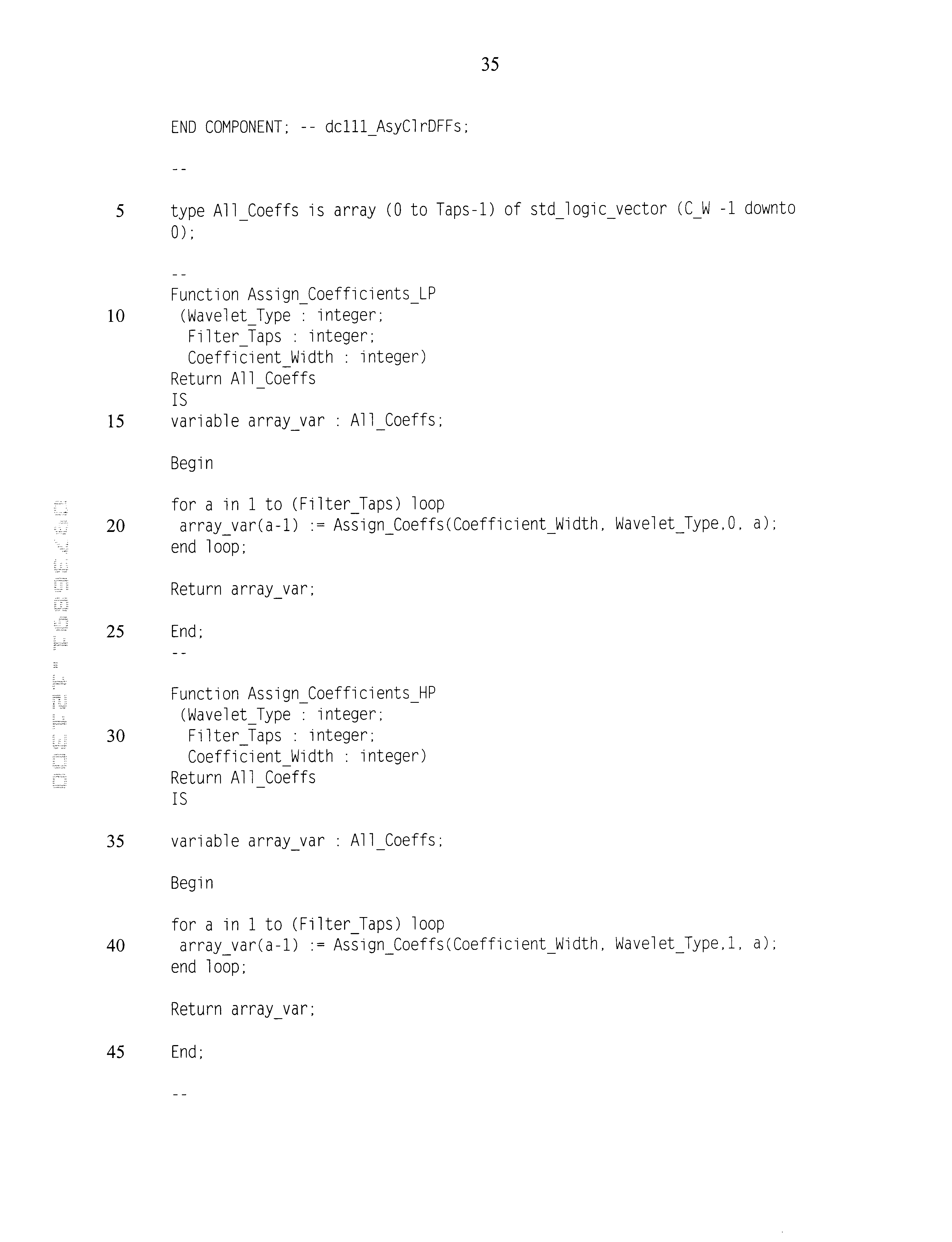 US6785700B2 - Implementation of wavelet functions in
