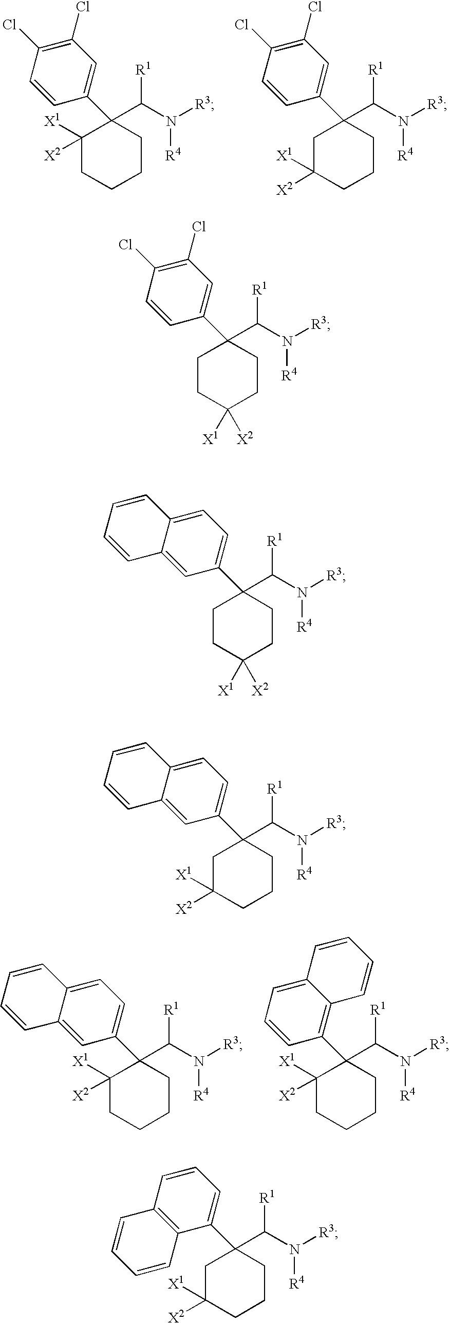 US8877975B2 - Cycloalkylamines as monoamine reuptake inhibitors