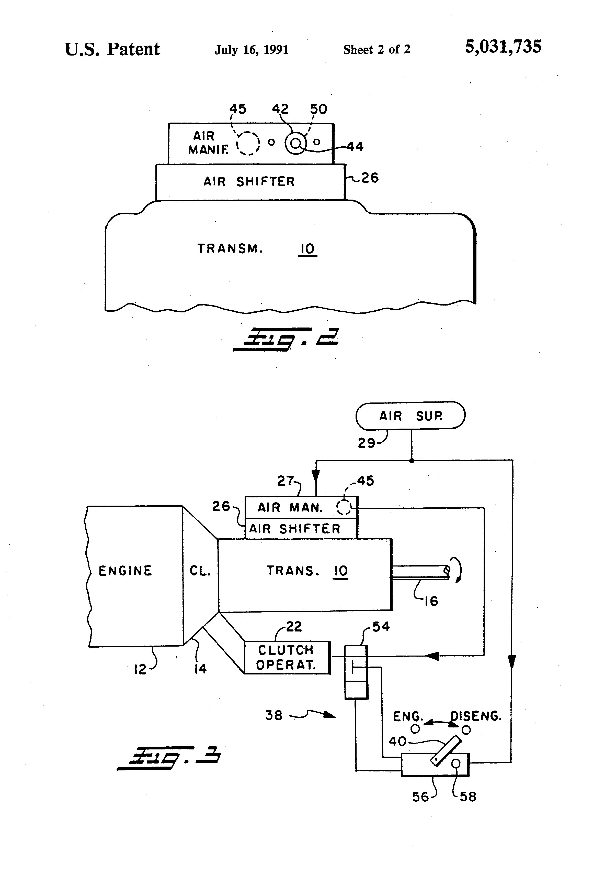 US5031735A - Manual override for automated mechanical