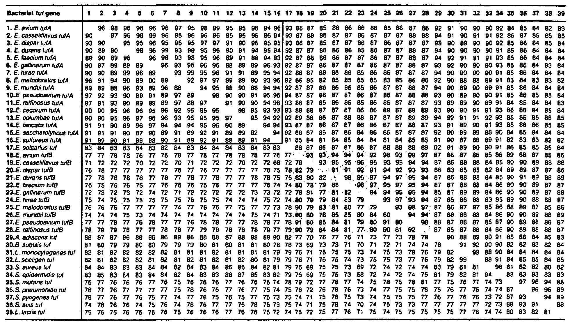 WO2001023604A2 - Highly conserved genes and their use to