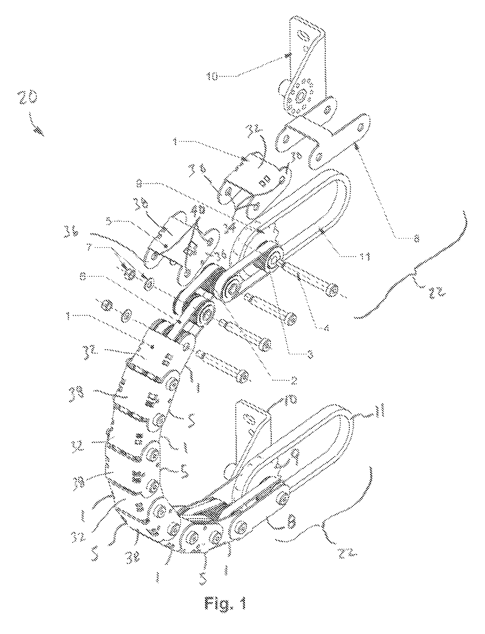 Integrally driven linkage for industrial/commercial equipment Patent Figure 1