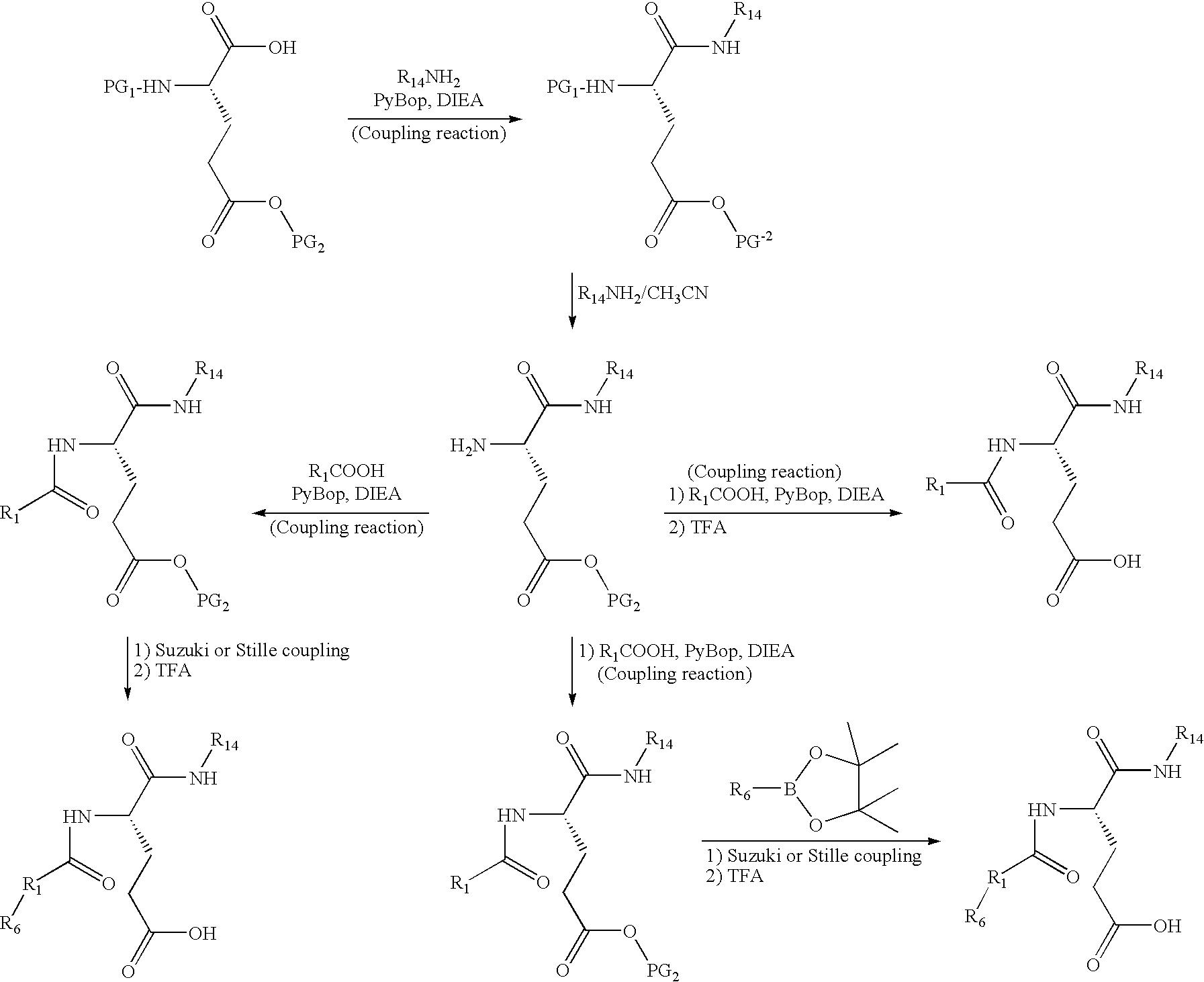 US20100010012A1 - Glutamate aggrecanase inhibitors - Google