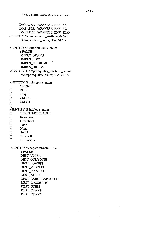 US6426798B1 - Data structure for printer description file