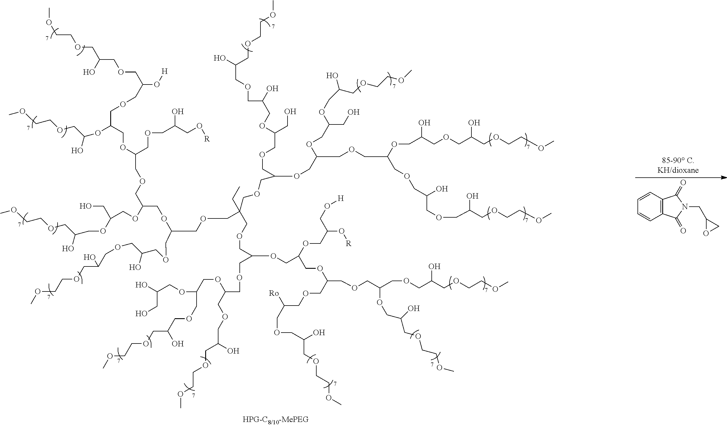 US20160114040A1 - Derivatized Hyperbranched Polyglycerols