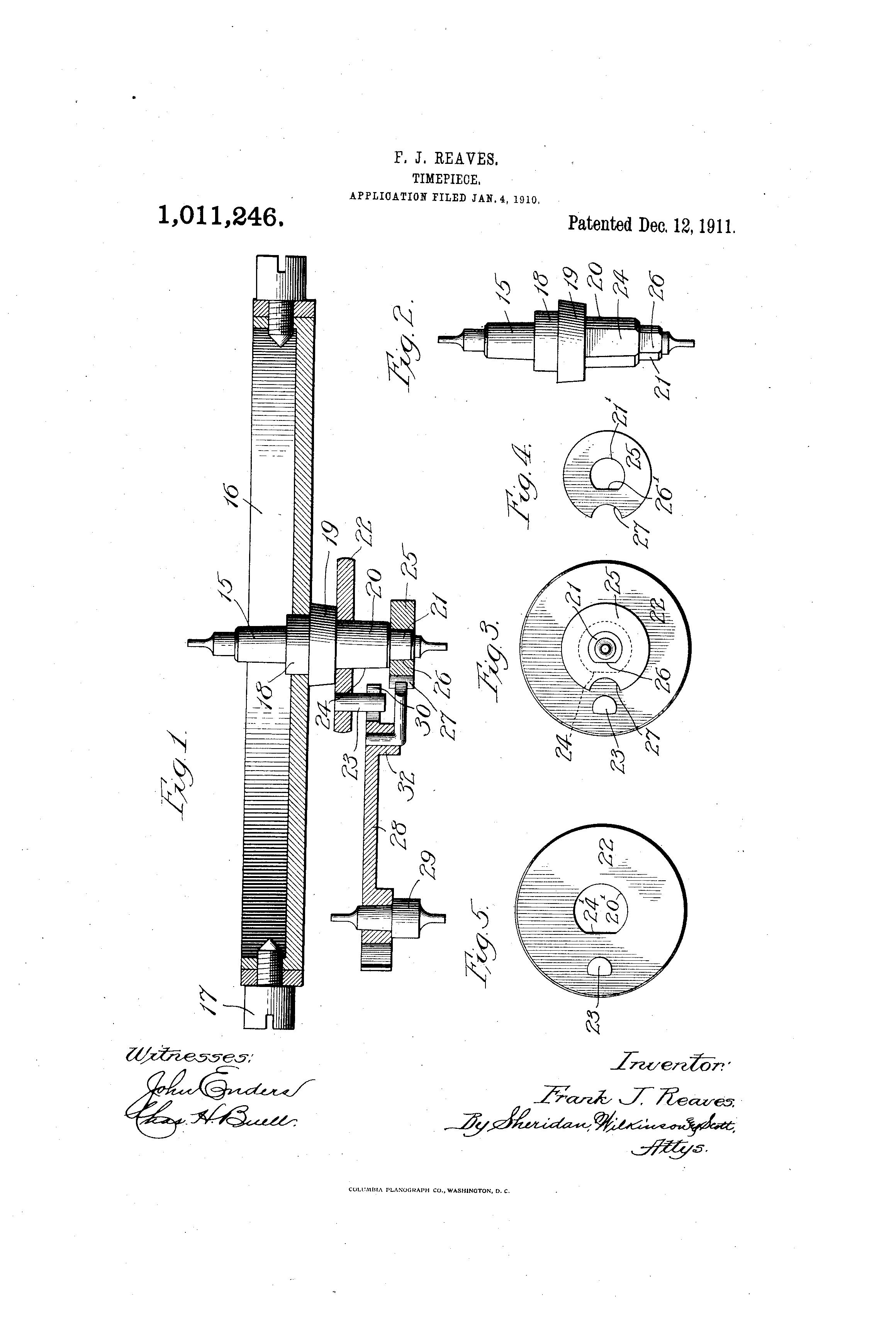 south bend pocket watch patents