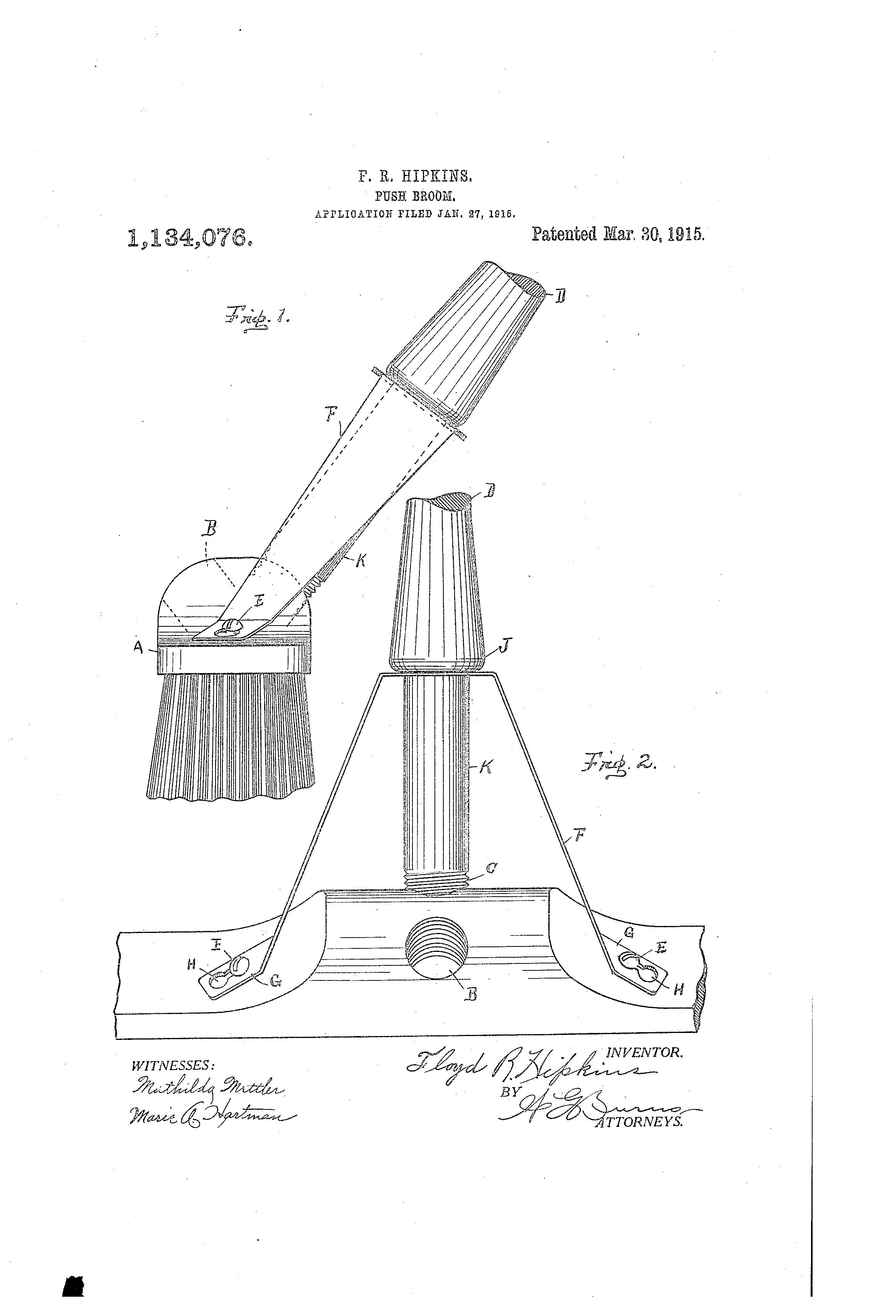 patent drawing - Push Broom