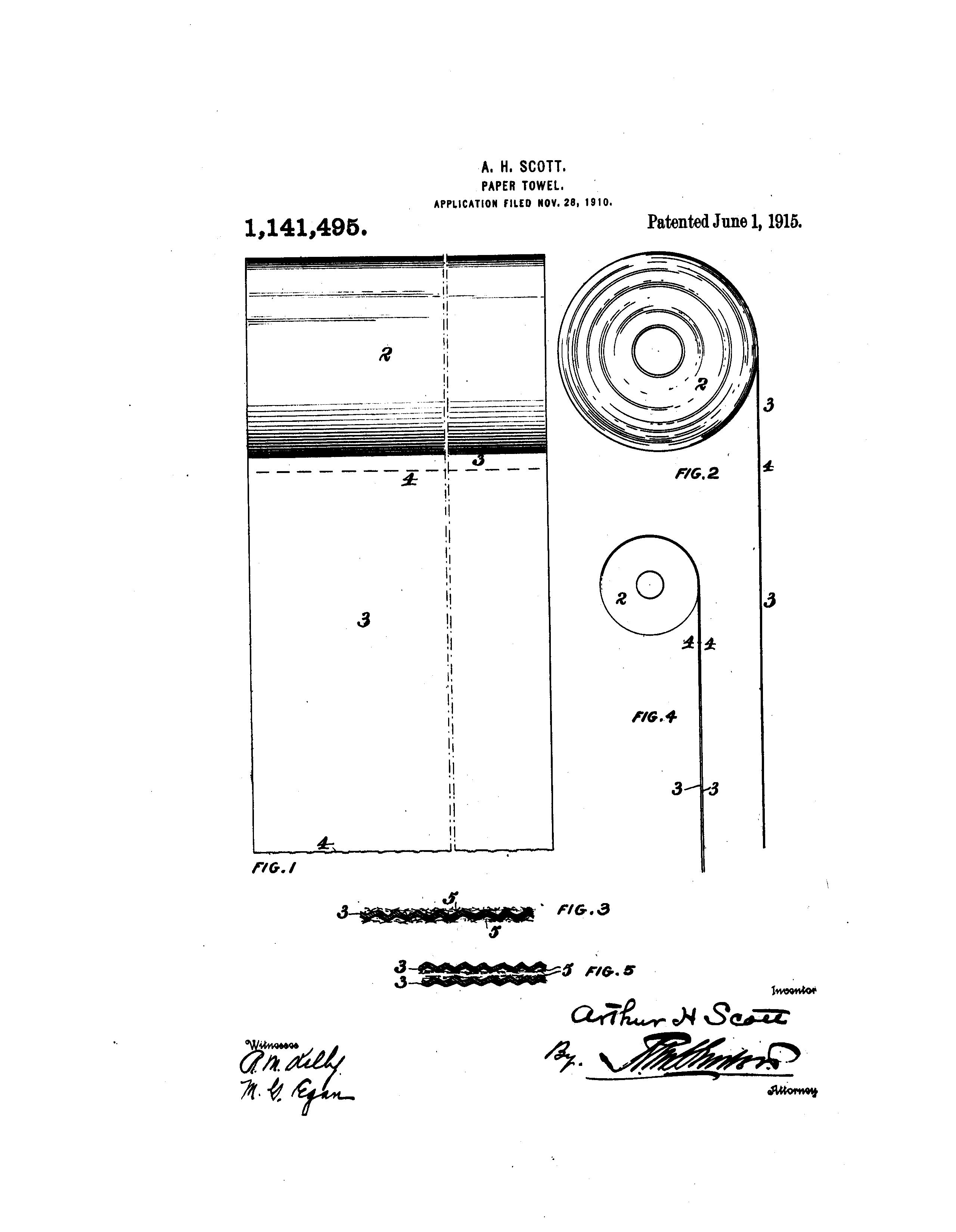 Patent Us1141495 Paper Towel Google Patents