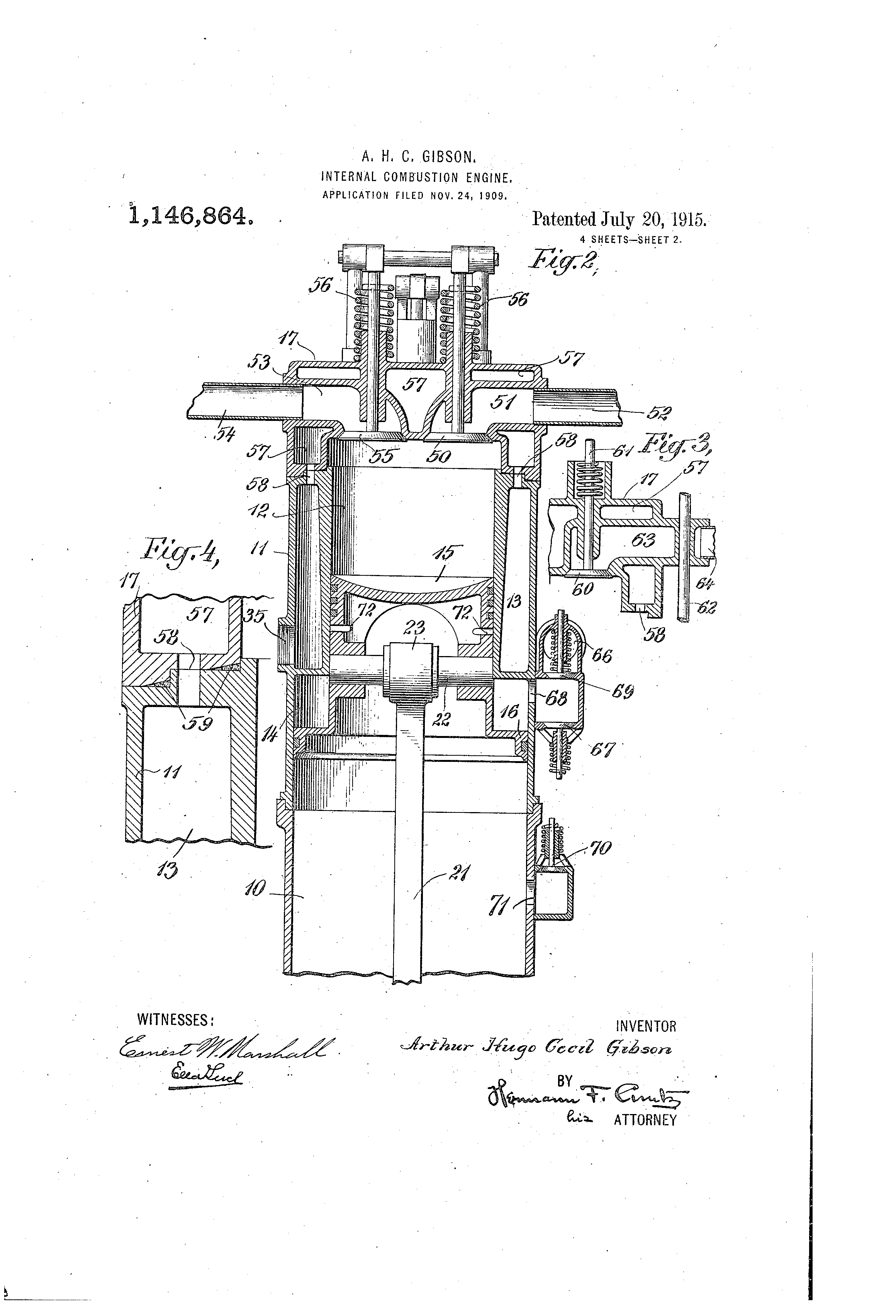 patent us1146864 - internal-combustion engine