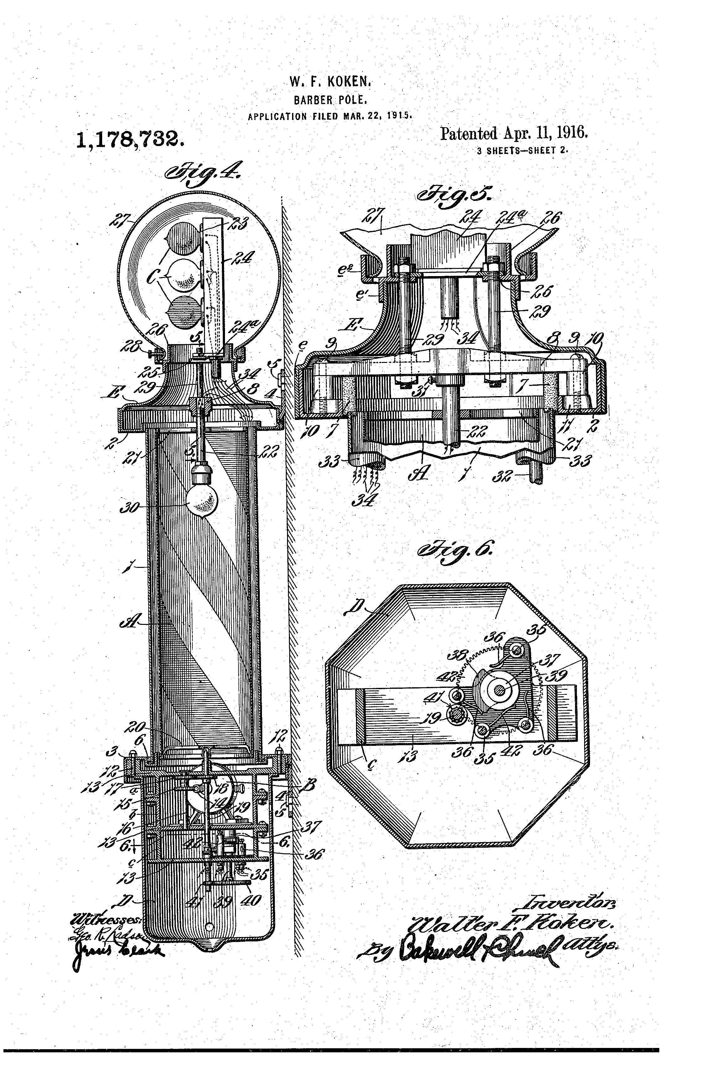 patent us1178732 - barber-pole