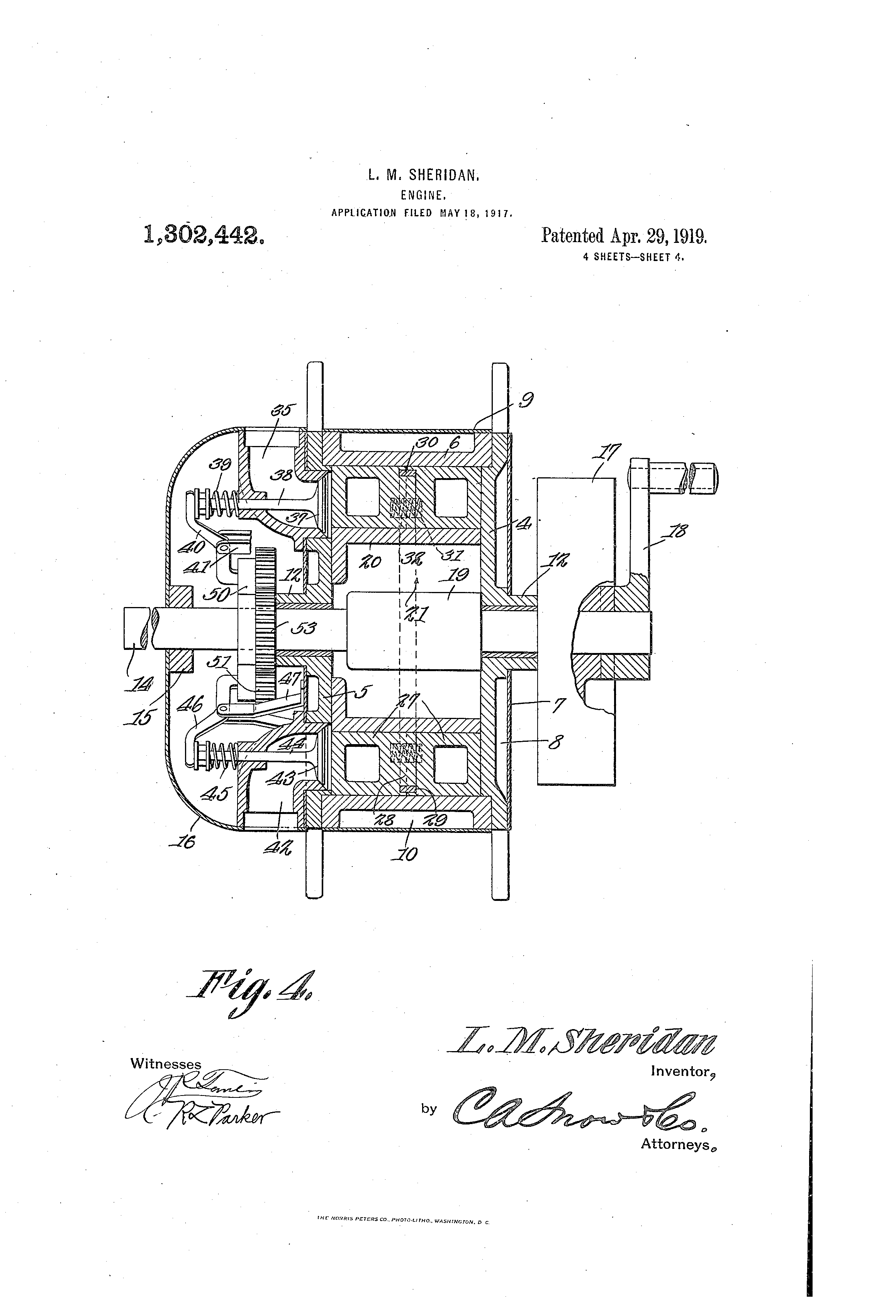 Patent Us1302442 Engine Google Patents 302 Diagram 20 Piston Drawing