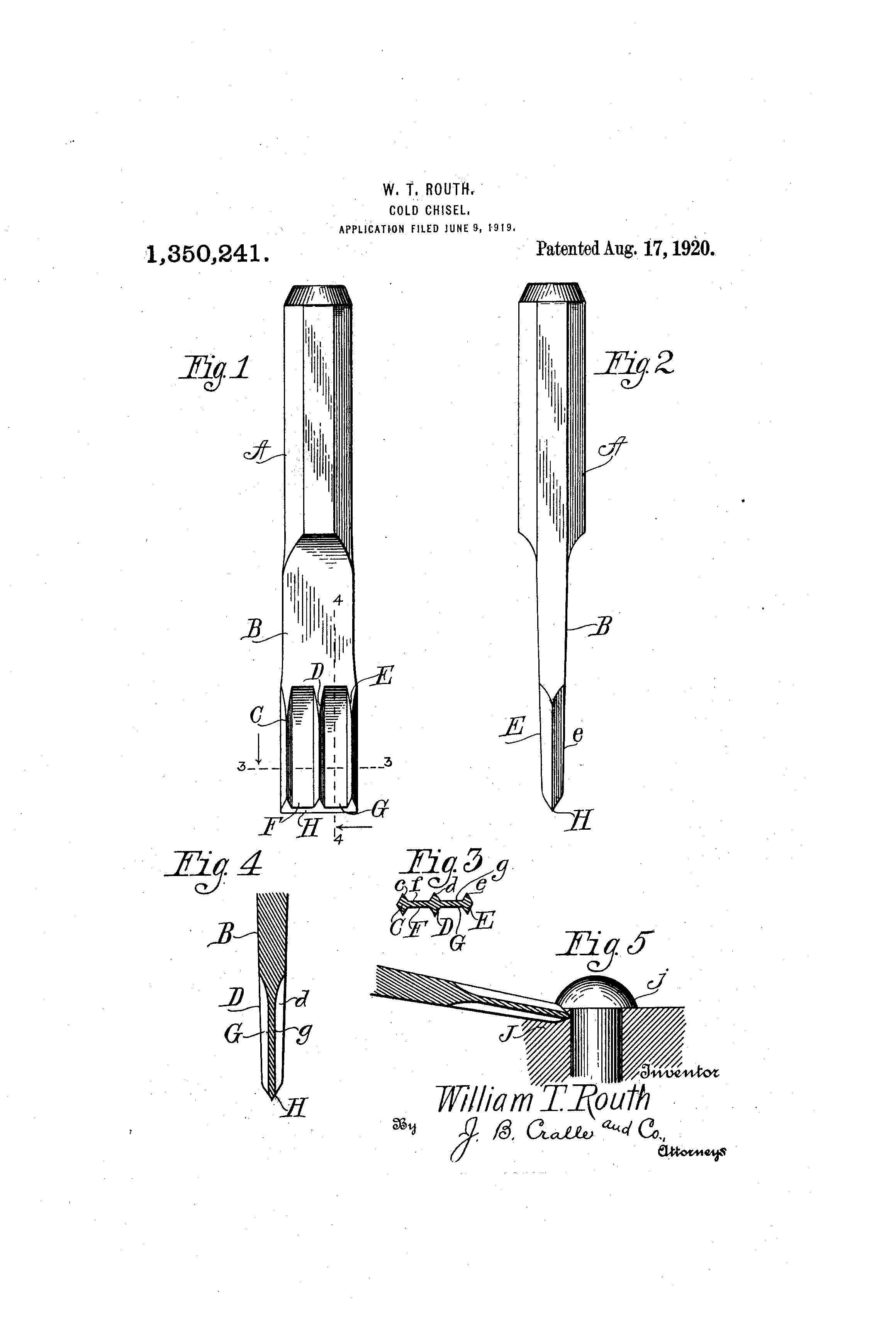 Patent US1350241 - Cold-chisel - Google Patents