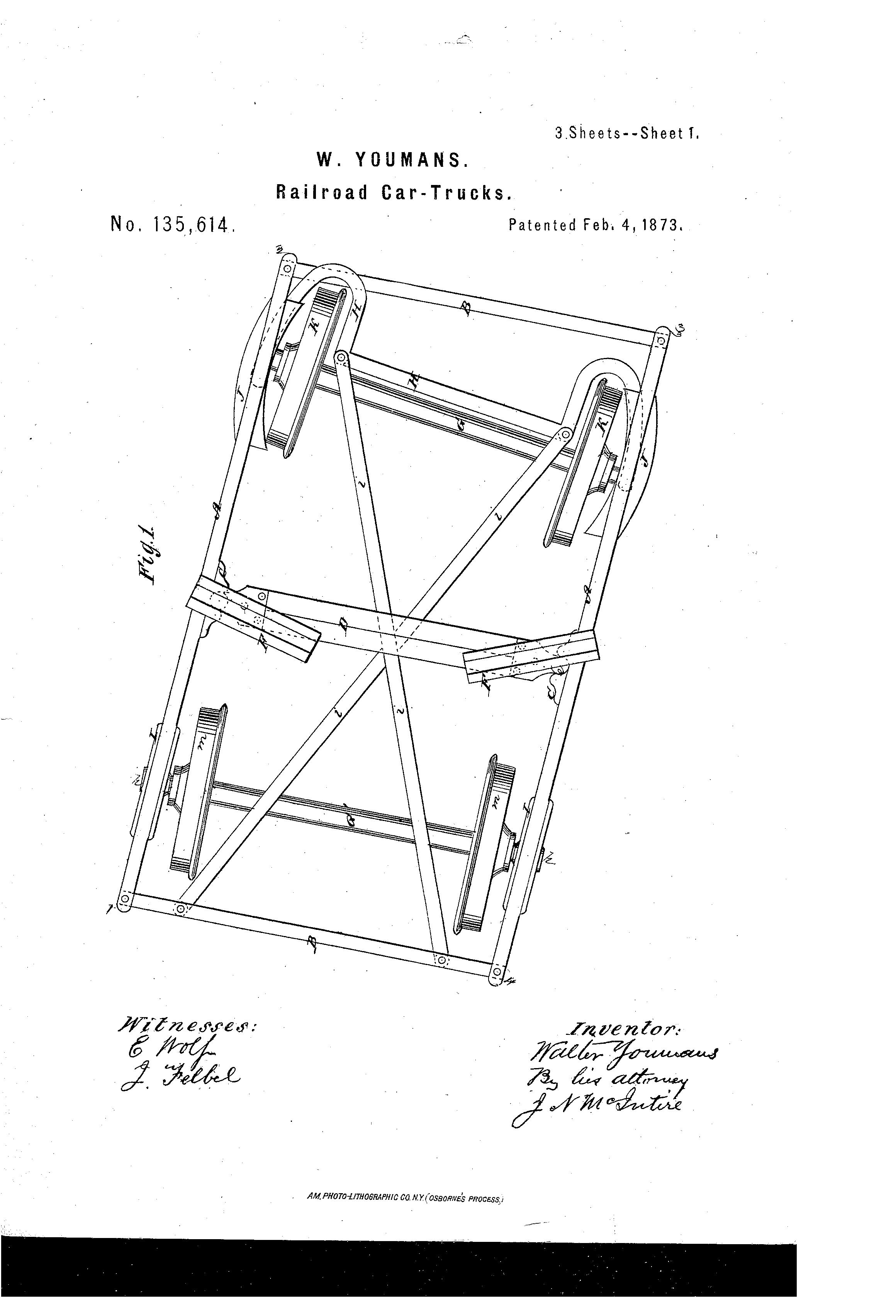 Patent US135614 - Improvement in railroad-car trucks