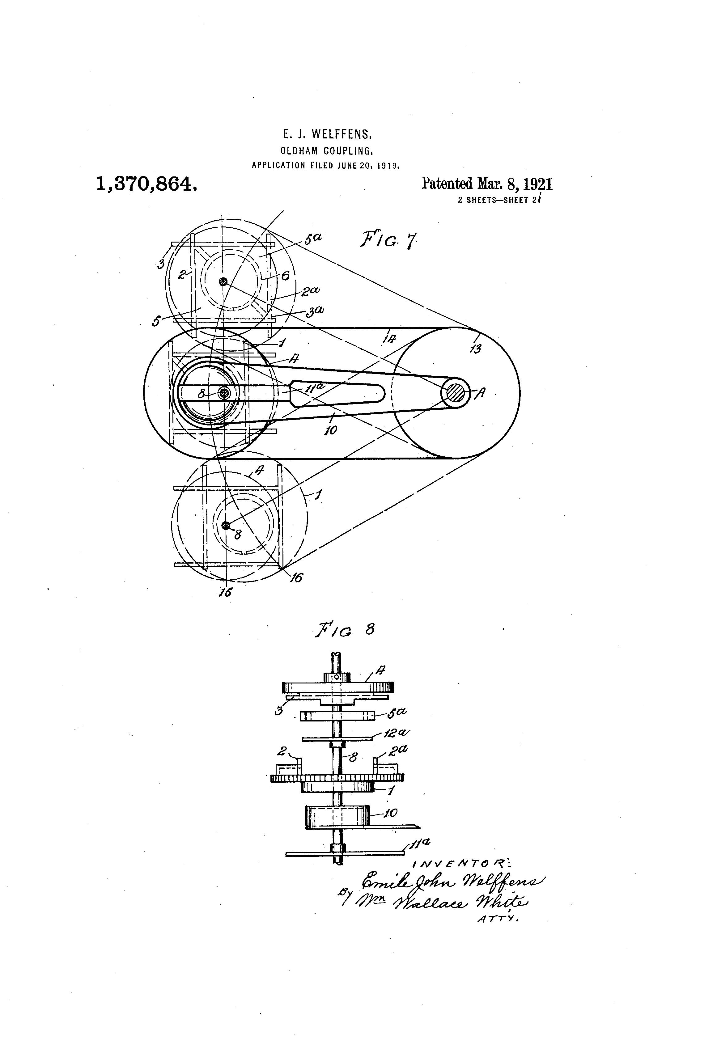 Patent US1370864 - Oldham coupling - Google Patents