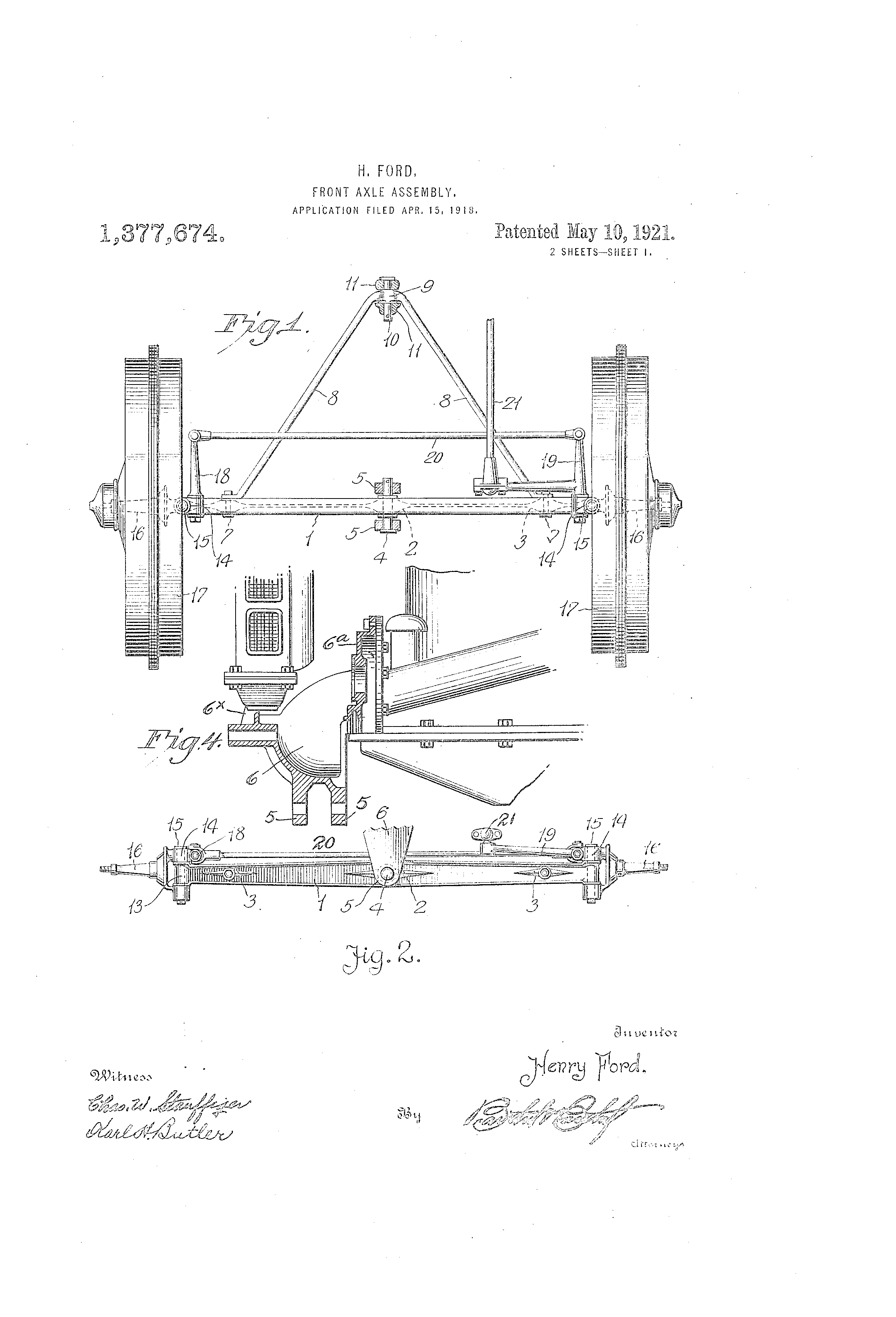 Henry Ford Front Axle Patent