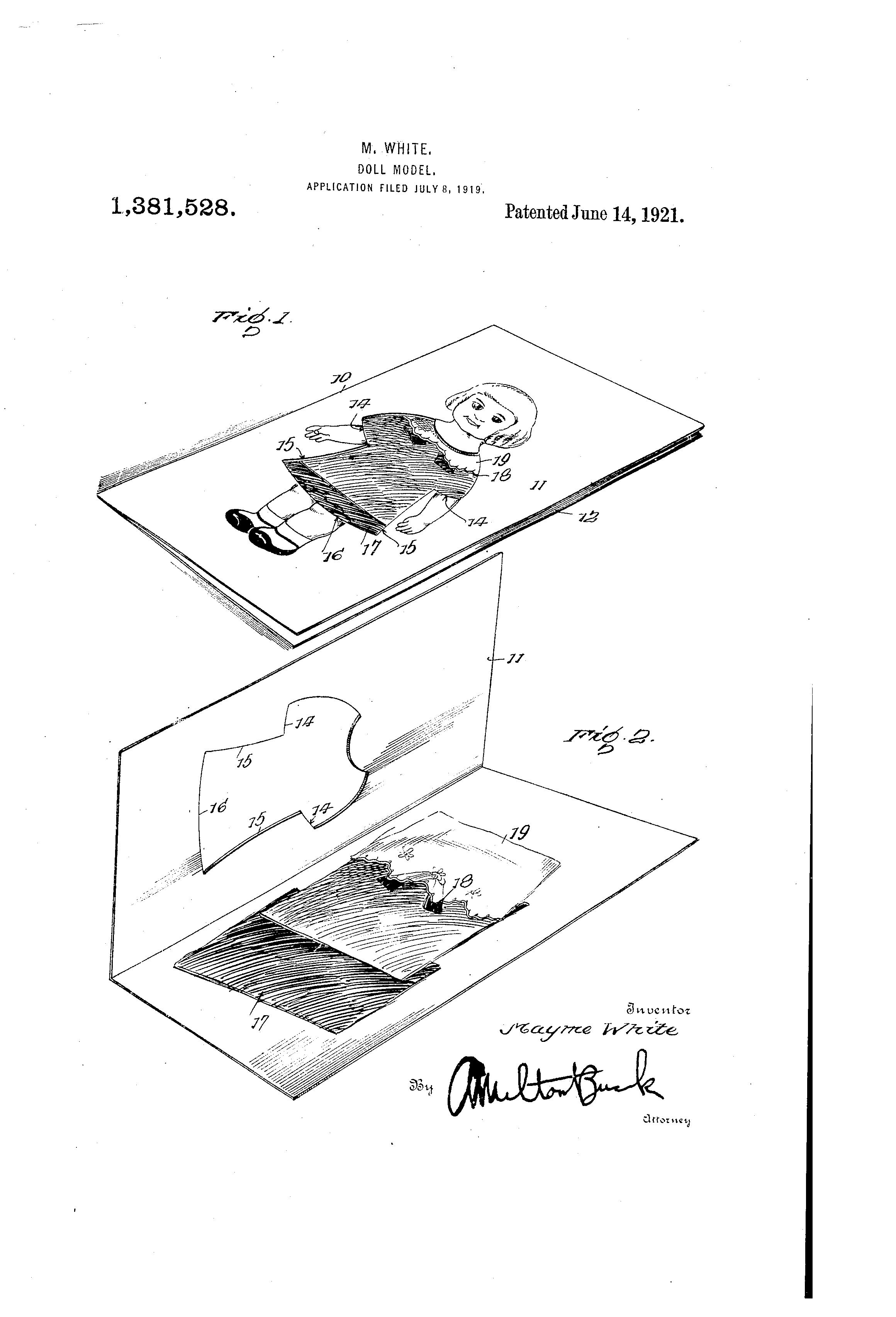 Patent US1381528 - Doll-model - Google Patents