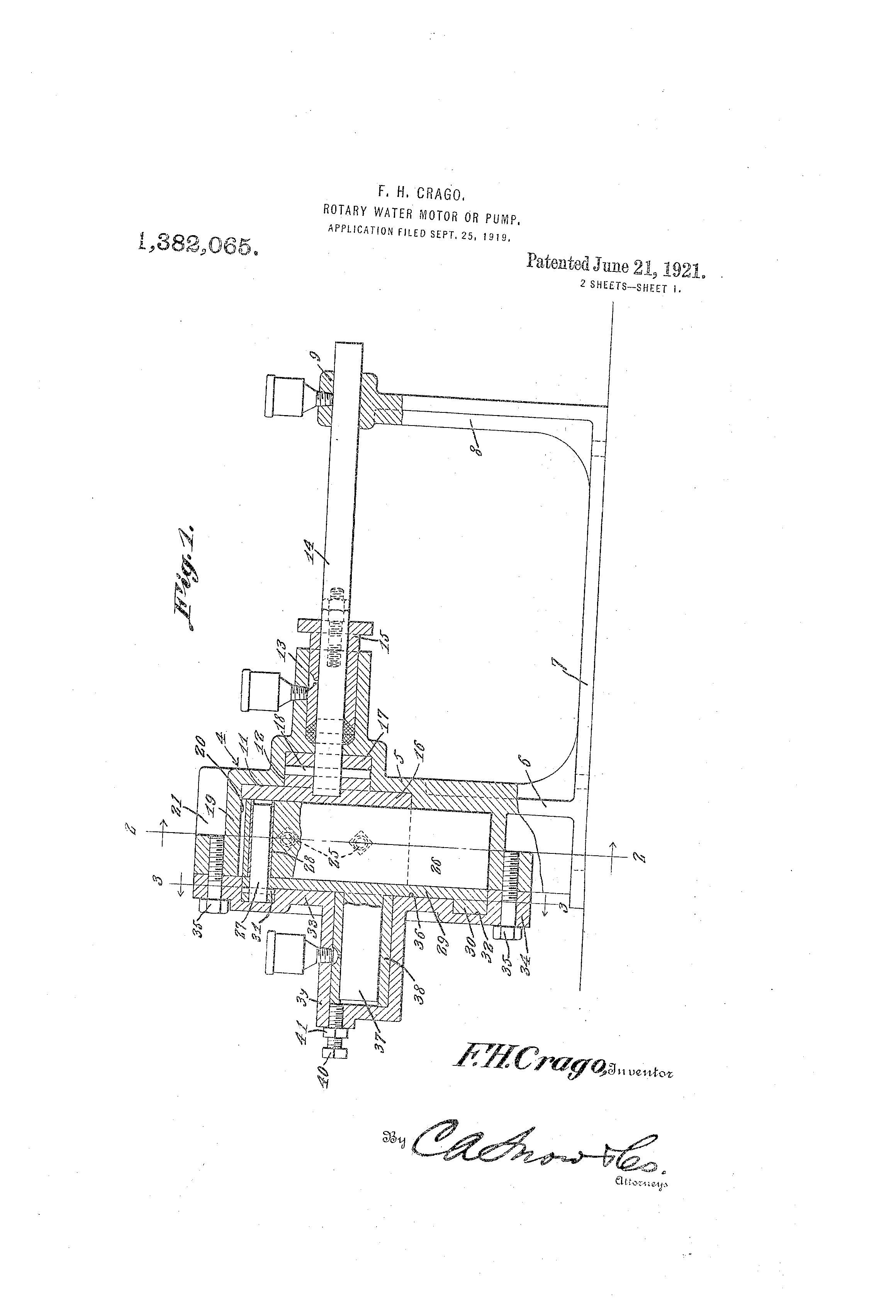 Pump water motor