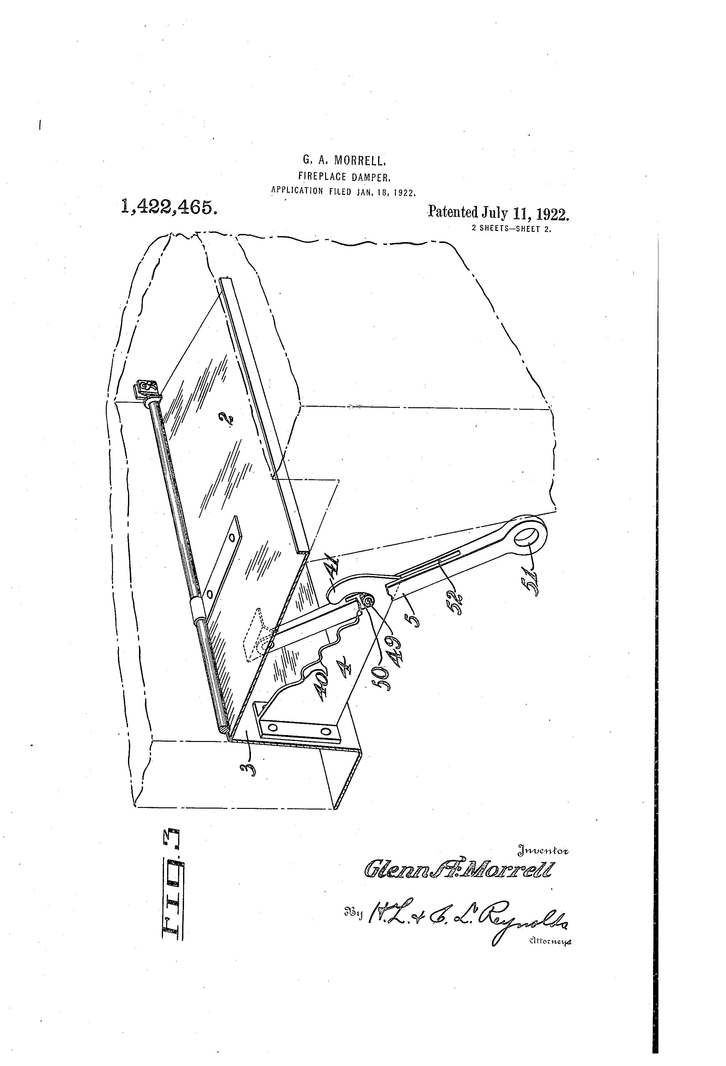 patent us1422465 fireplace damper google patents