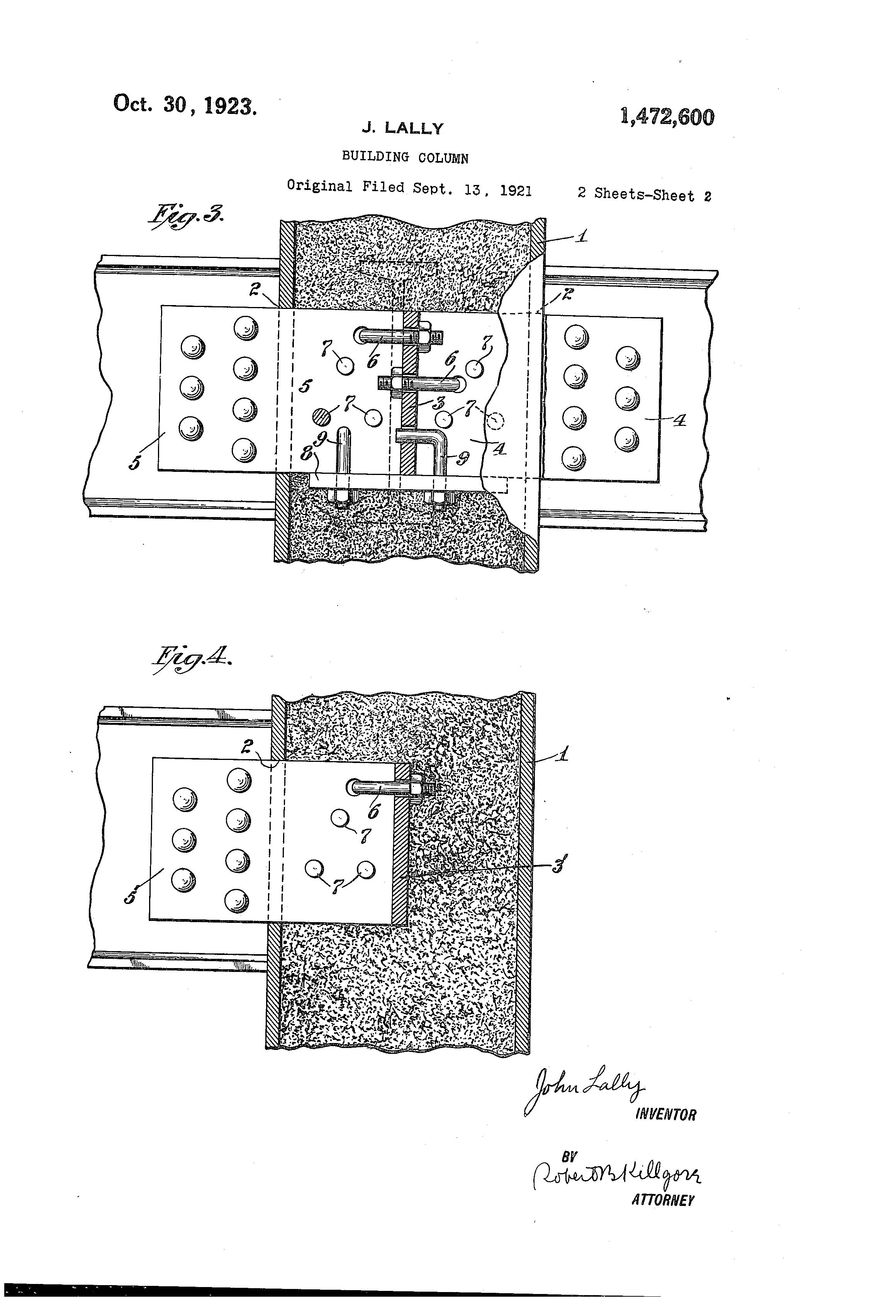 Patent US1472600 - Building column - Google Patents
