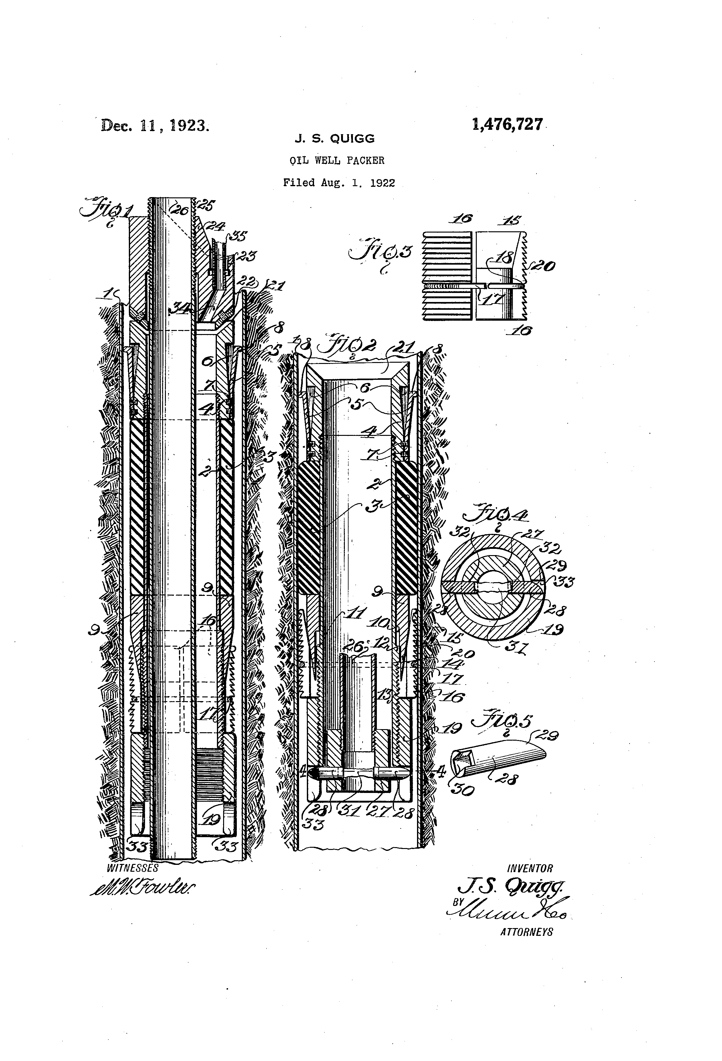 Patent US1476727 - Oil-well packer - Google Patents  Patent US147672...