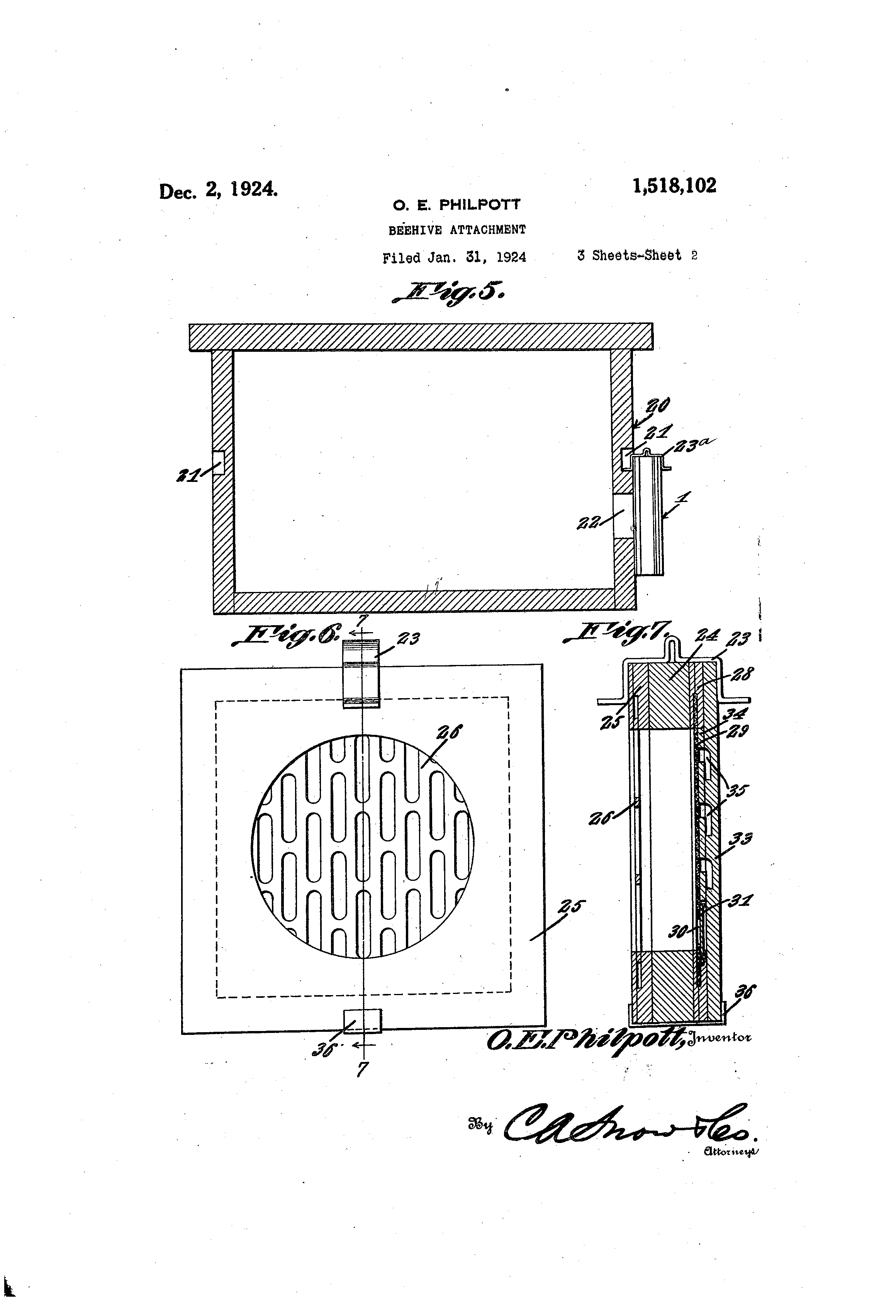 Patent Us1518102 Beehive Attachment Google Patents Phone Wiring Diagram Drawing
