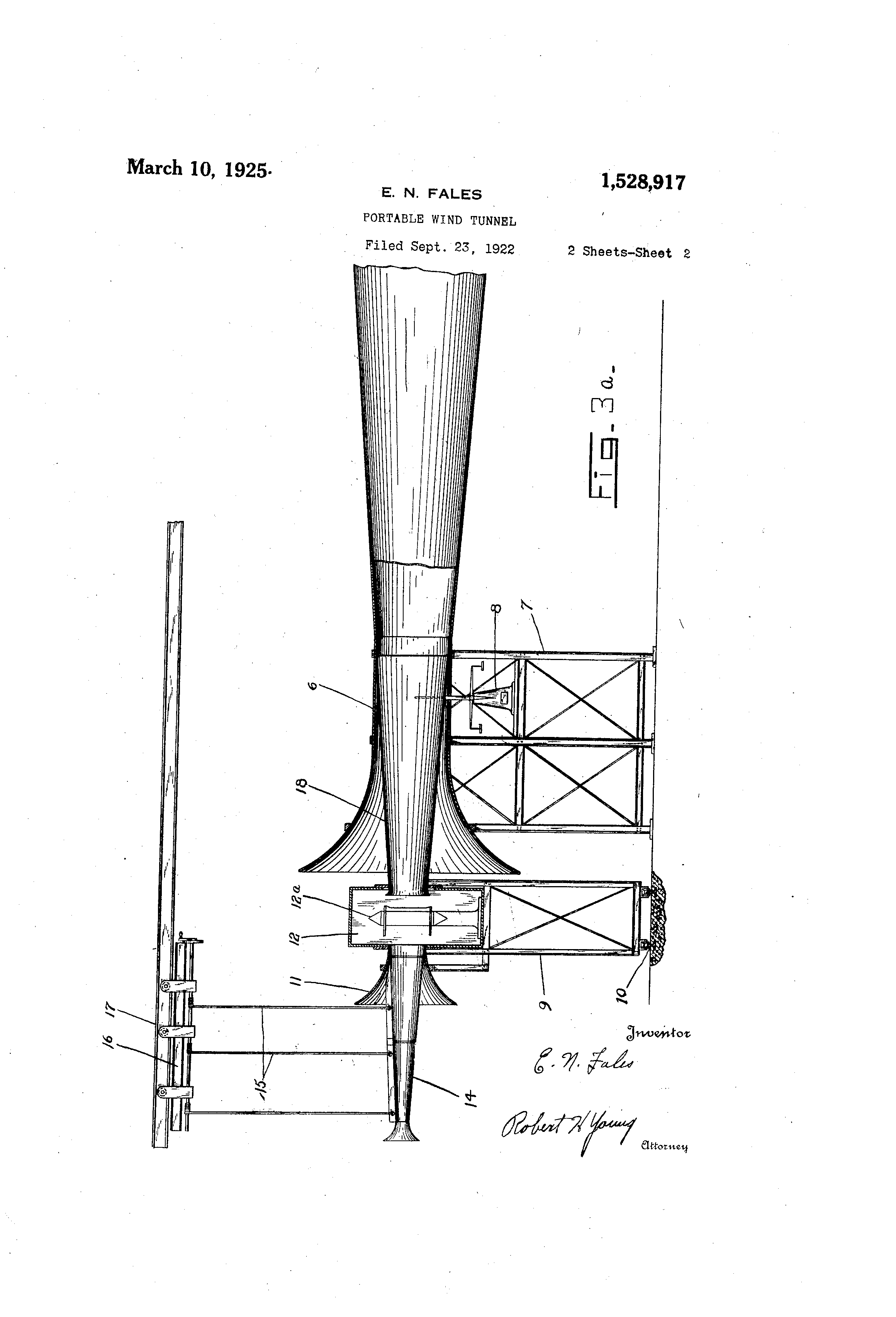 patent us1528917 - portable wind tunnel