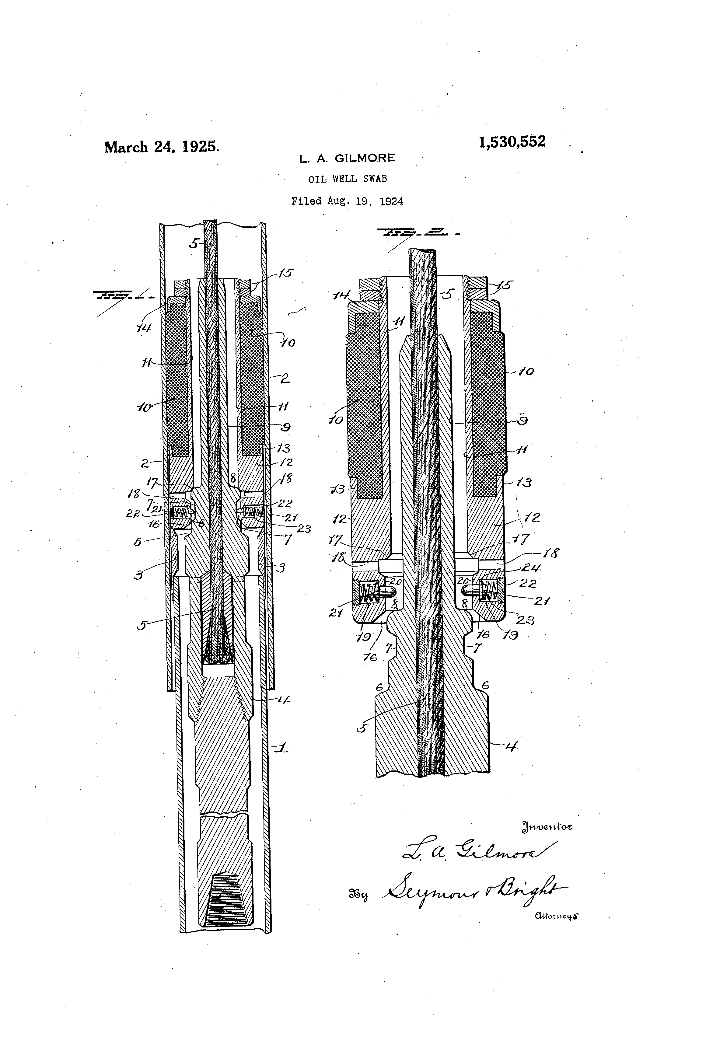 Patent US1530552 - Oil-well swab - Google Patents  Patent US153055...