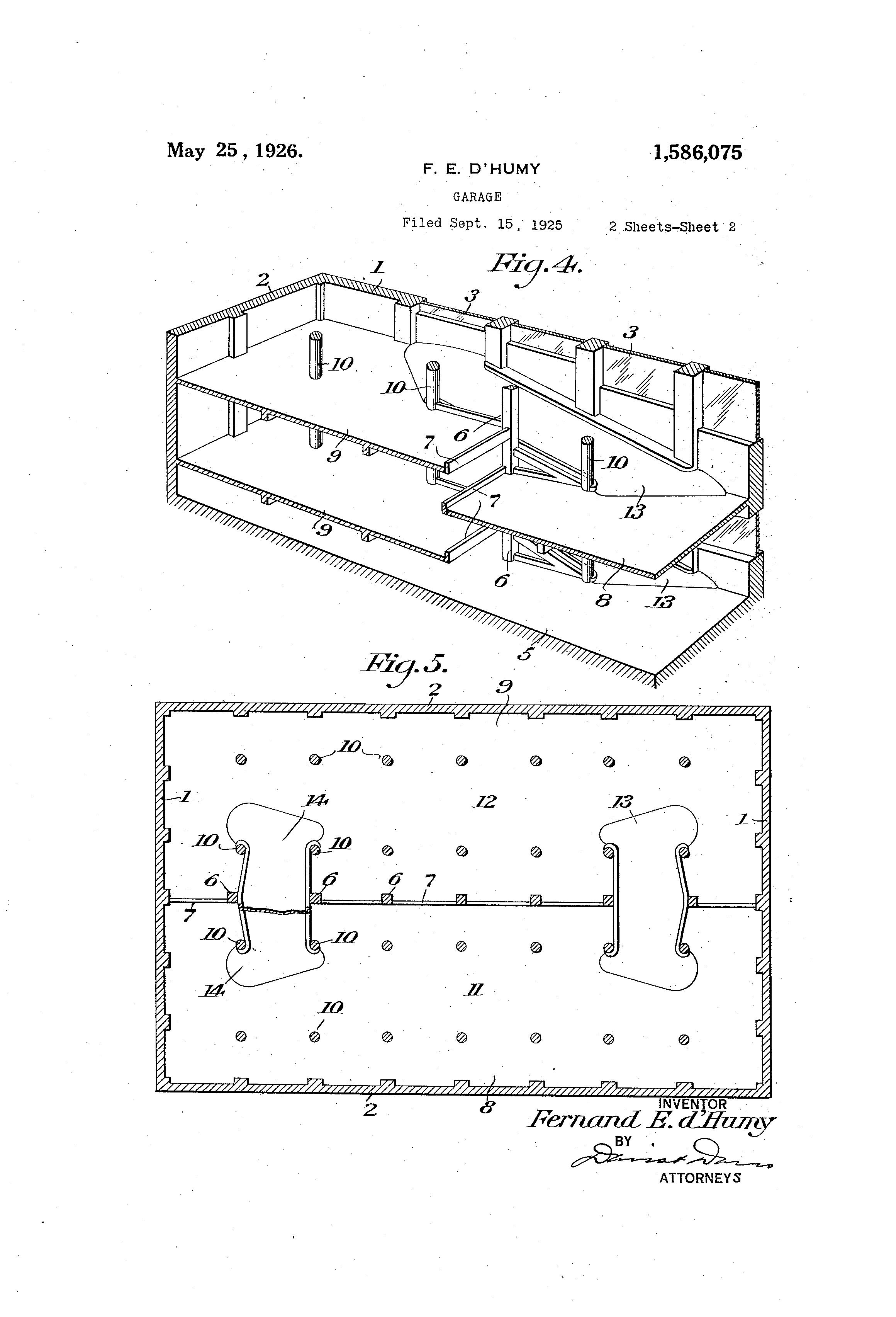patent us1586075 garage google patents patent drawing
