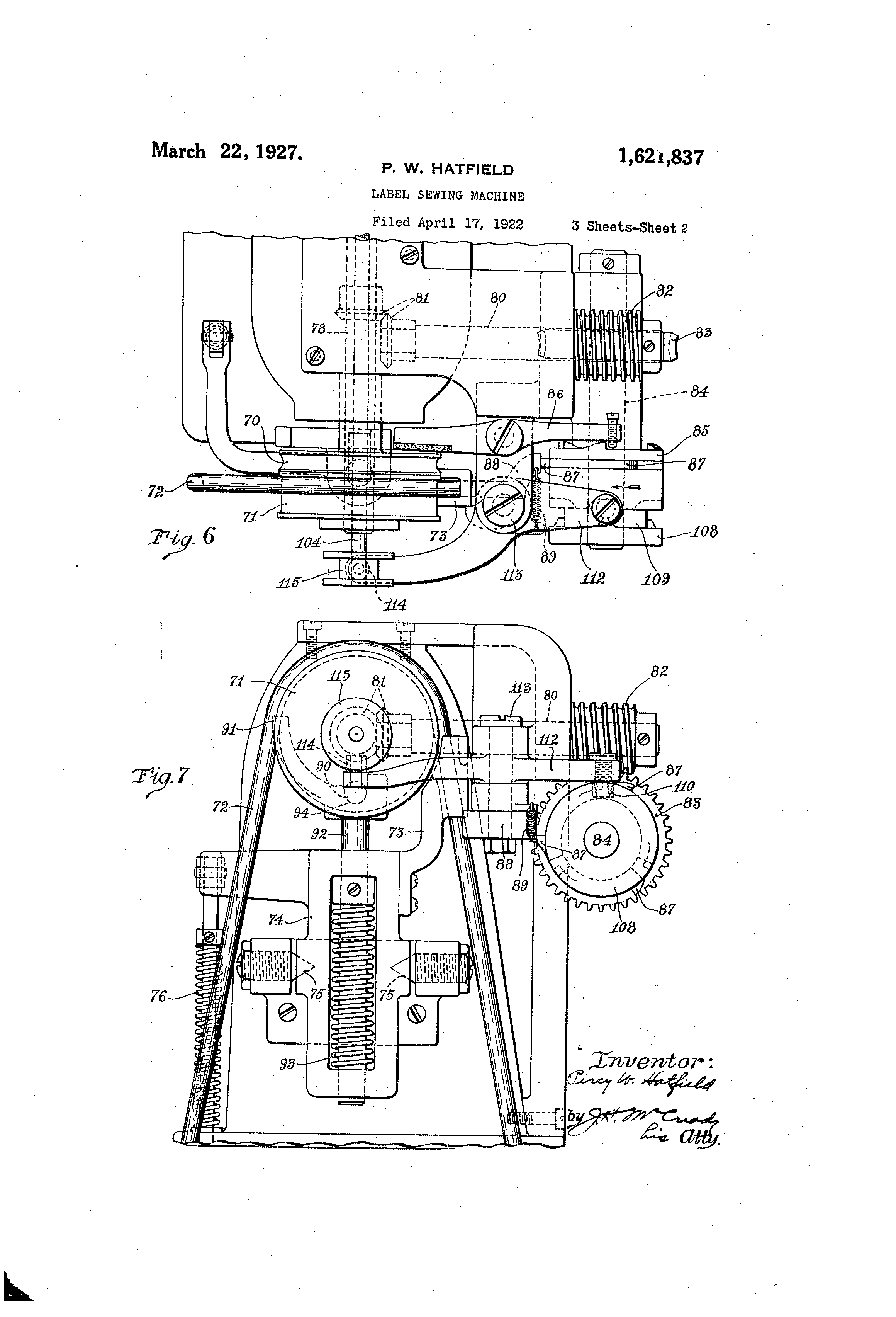This is an image of Exceptional Sewing Machine With Label