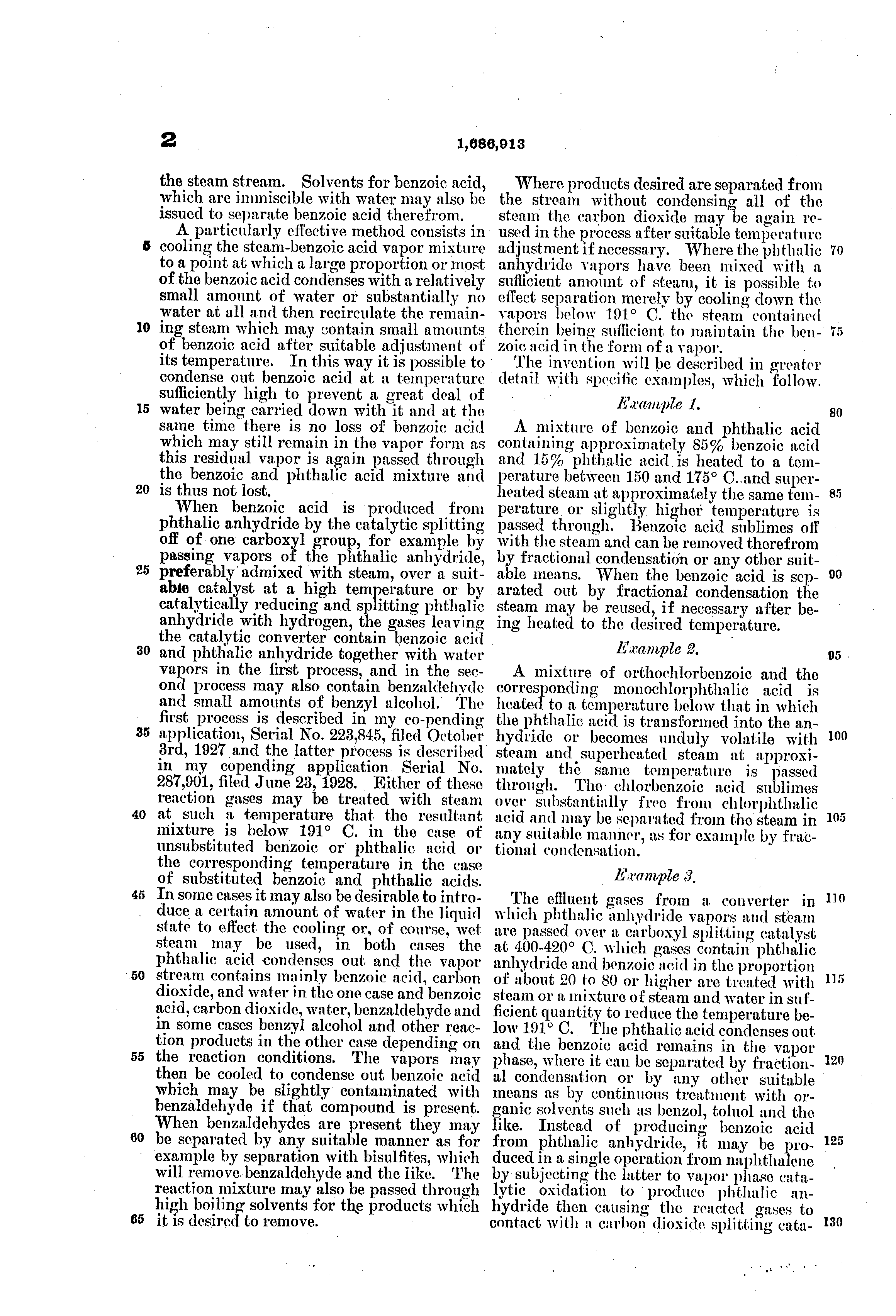 patent us purification of benzoic acid and its  patent drawing