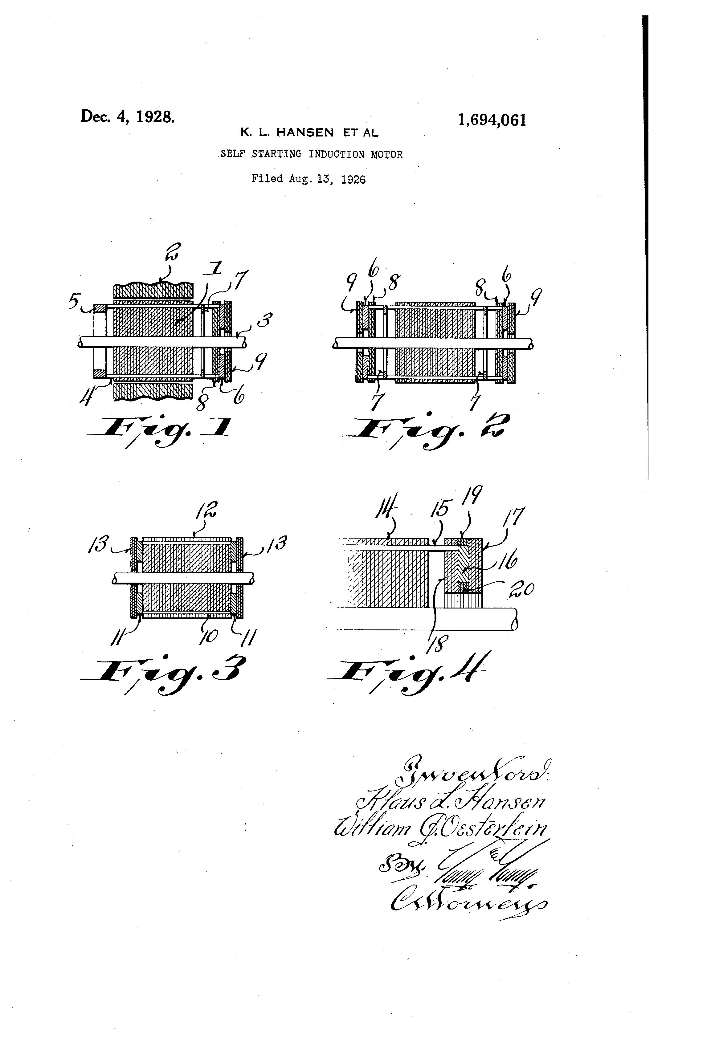Patent US1694061 - Self-starting induction motor - Google